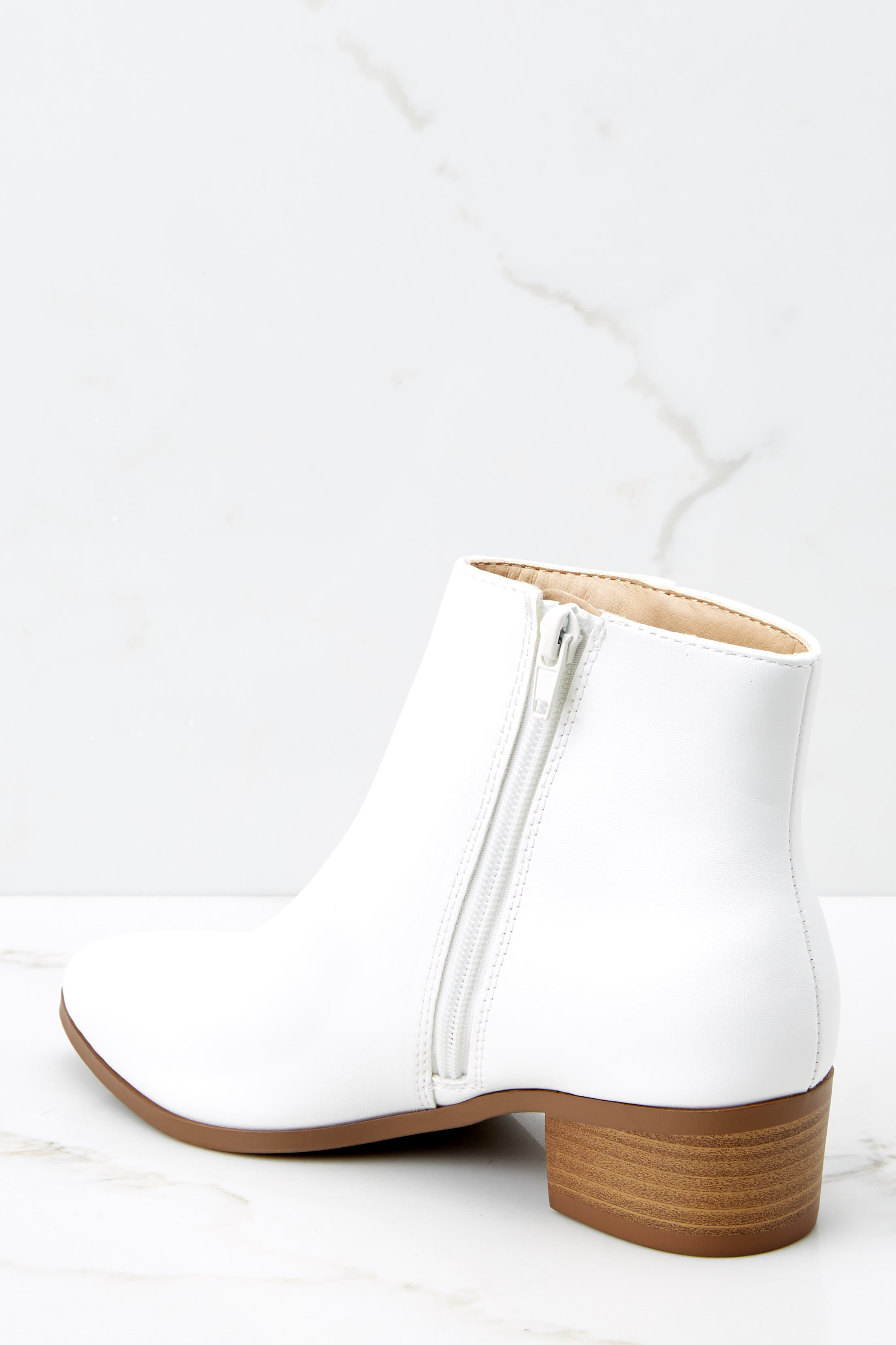 3 Chic Statement White Ankle Booties at reddressboutique.com