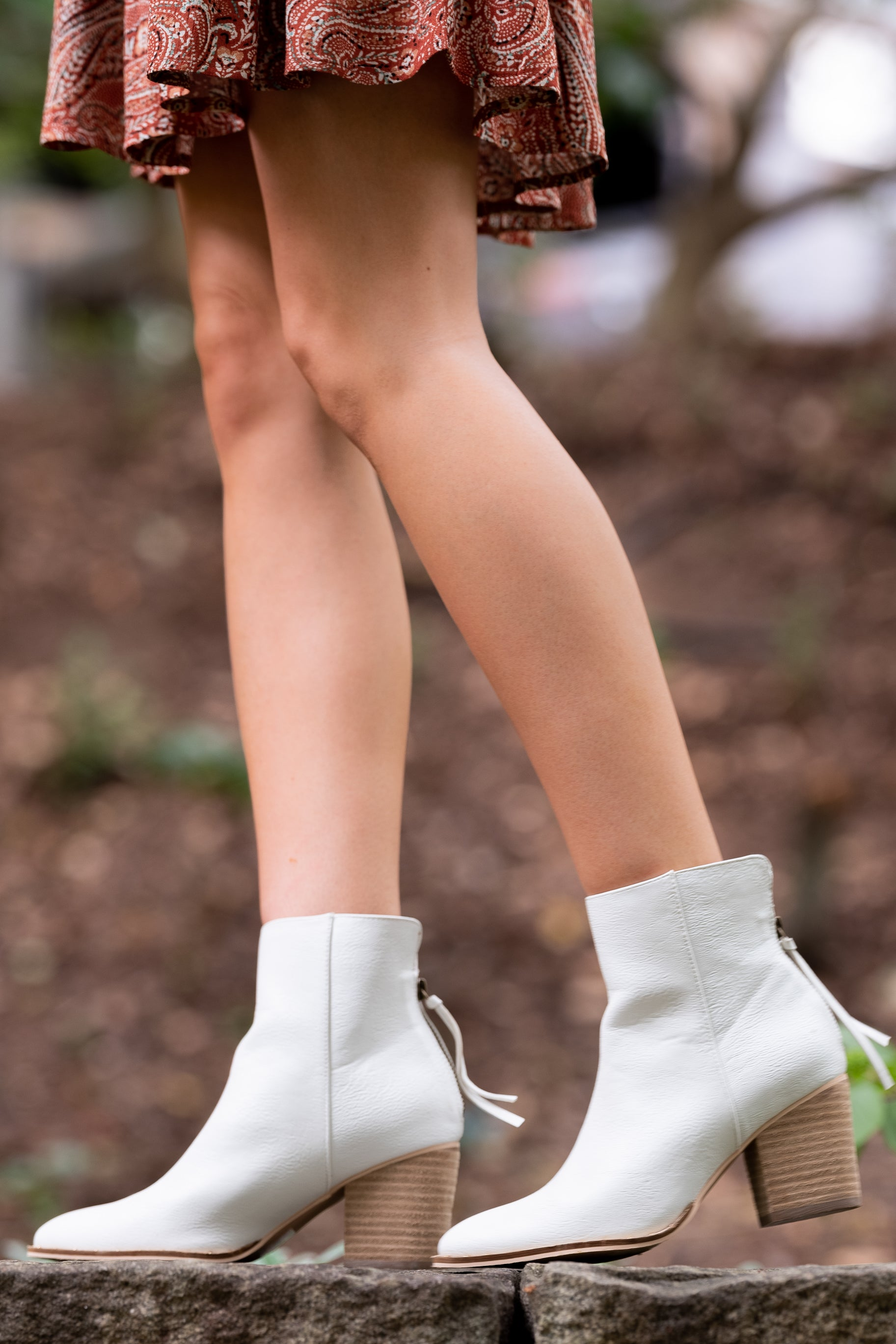 1 Taking These With Me White Ankle Booties at reddress.com