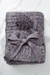4 Barefoot Dreams CozyChic® Heathered Ash Pom Pom Beanie And Scarf Set at reddressboutique.com