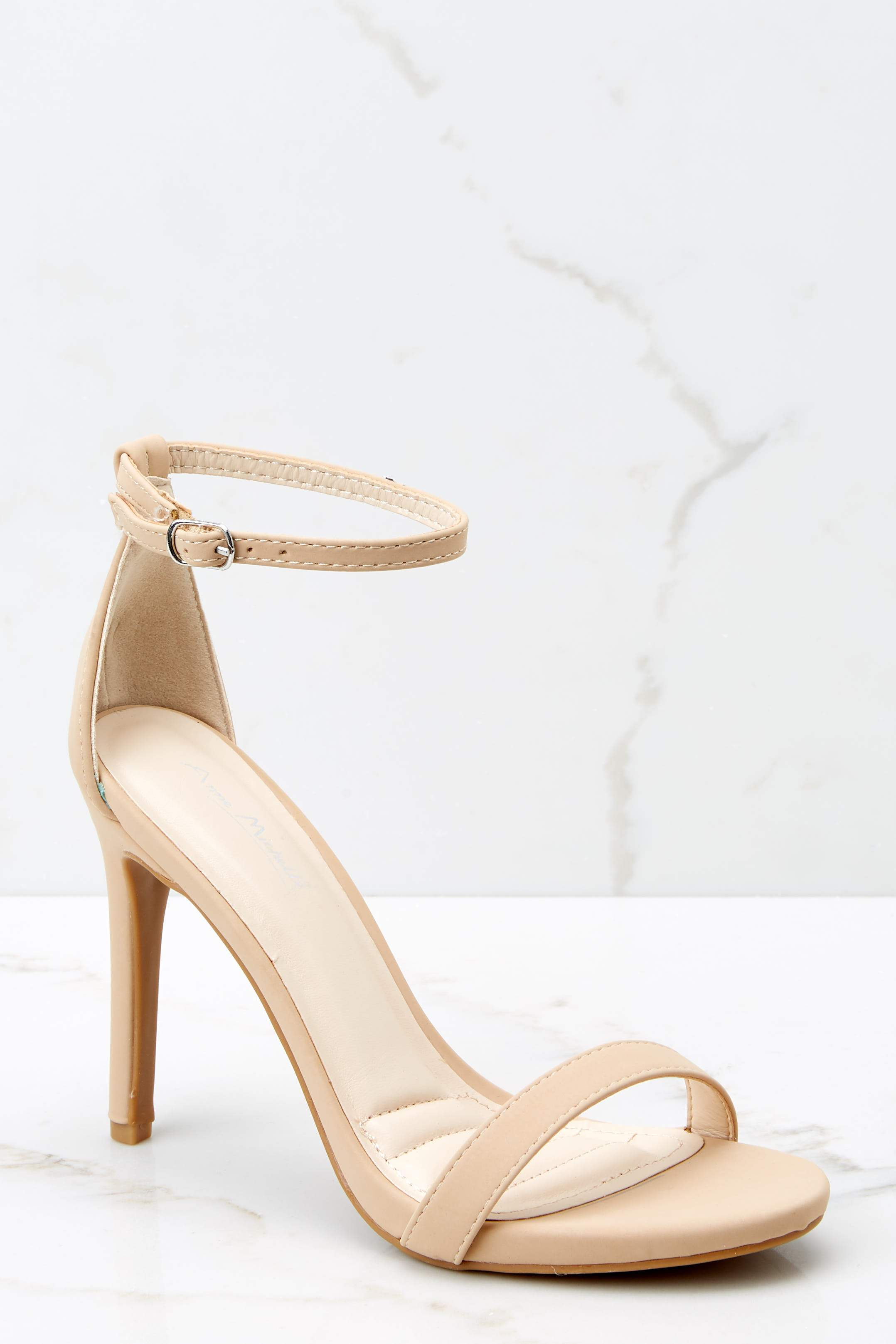 2 It's Your Moment Nude Ankle Strap Heels at reddress.com