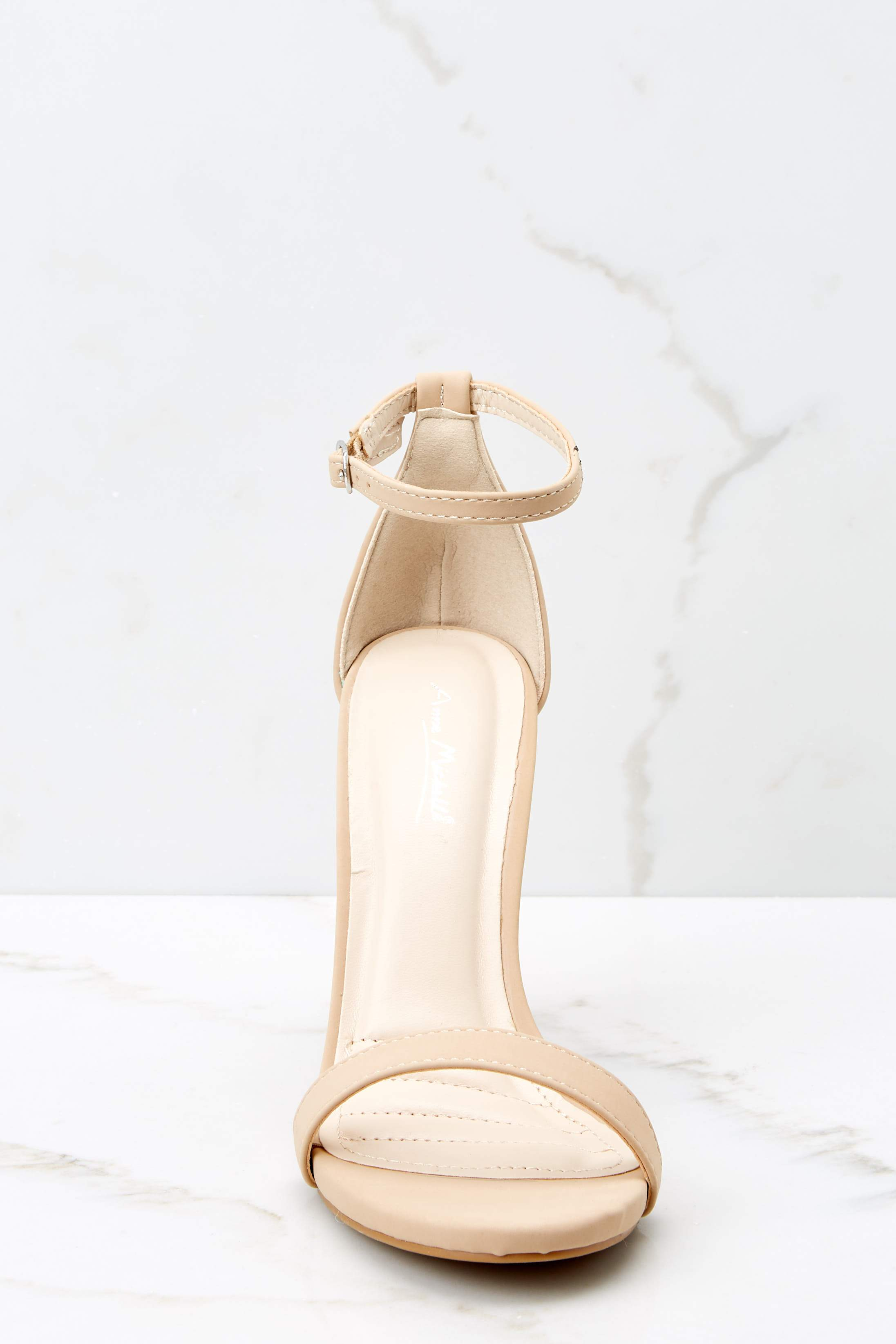 3 It's Your Moment Nude Ankle Strap Heels at reddress.com