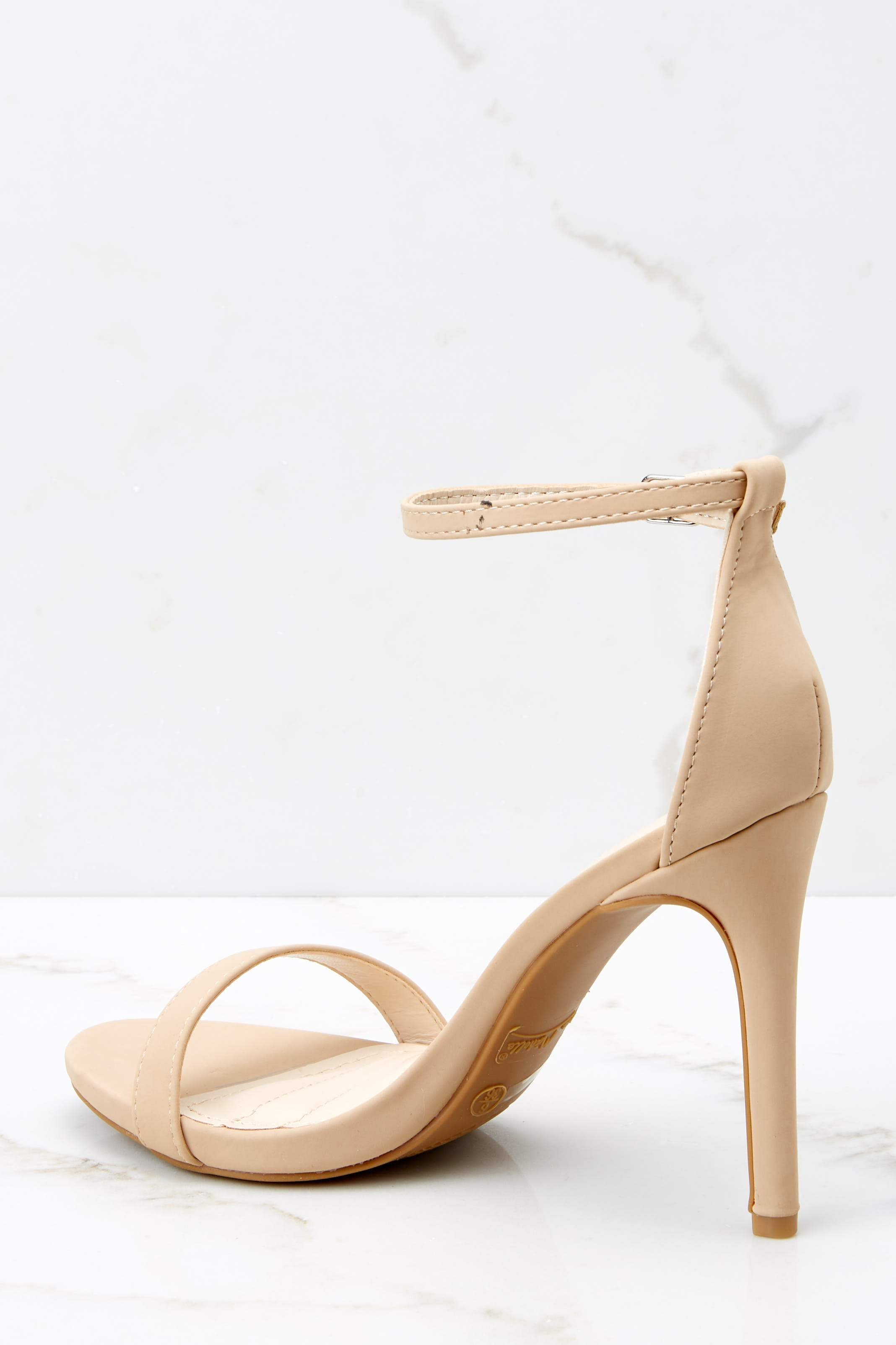 It's Your Moment Nude Ankle Strap Heels