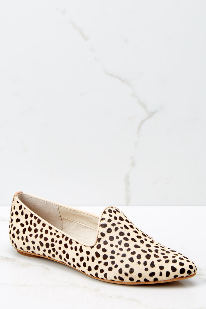 1 Work Related Beige Cheetah Print Loafers at reddressboutique.com