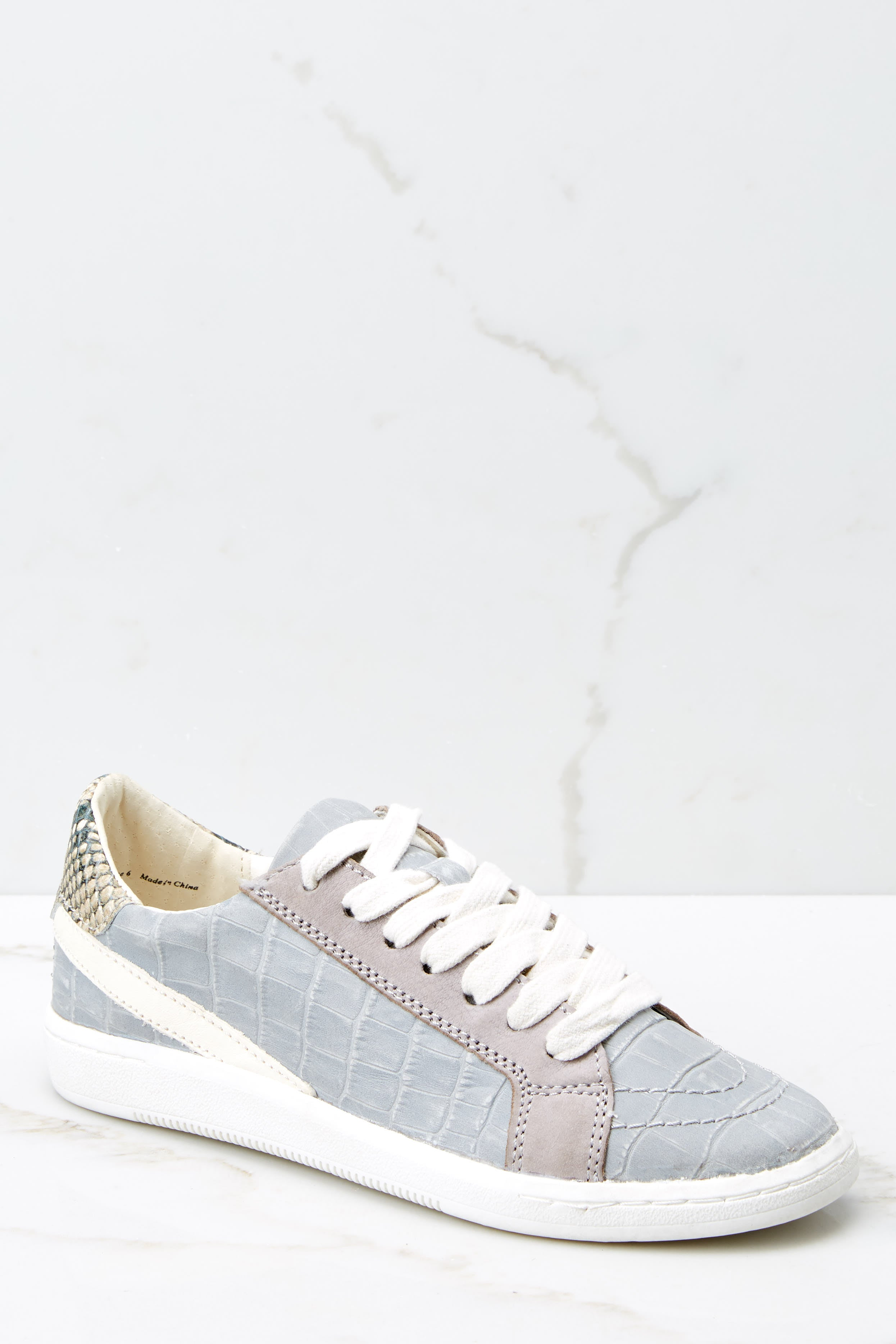 Nino Grey Crocodile Sneakers