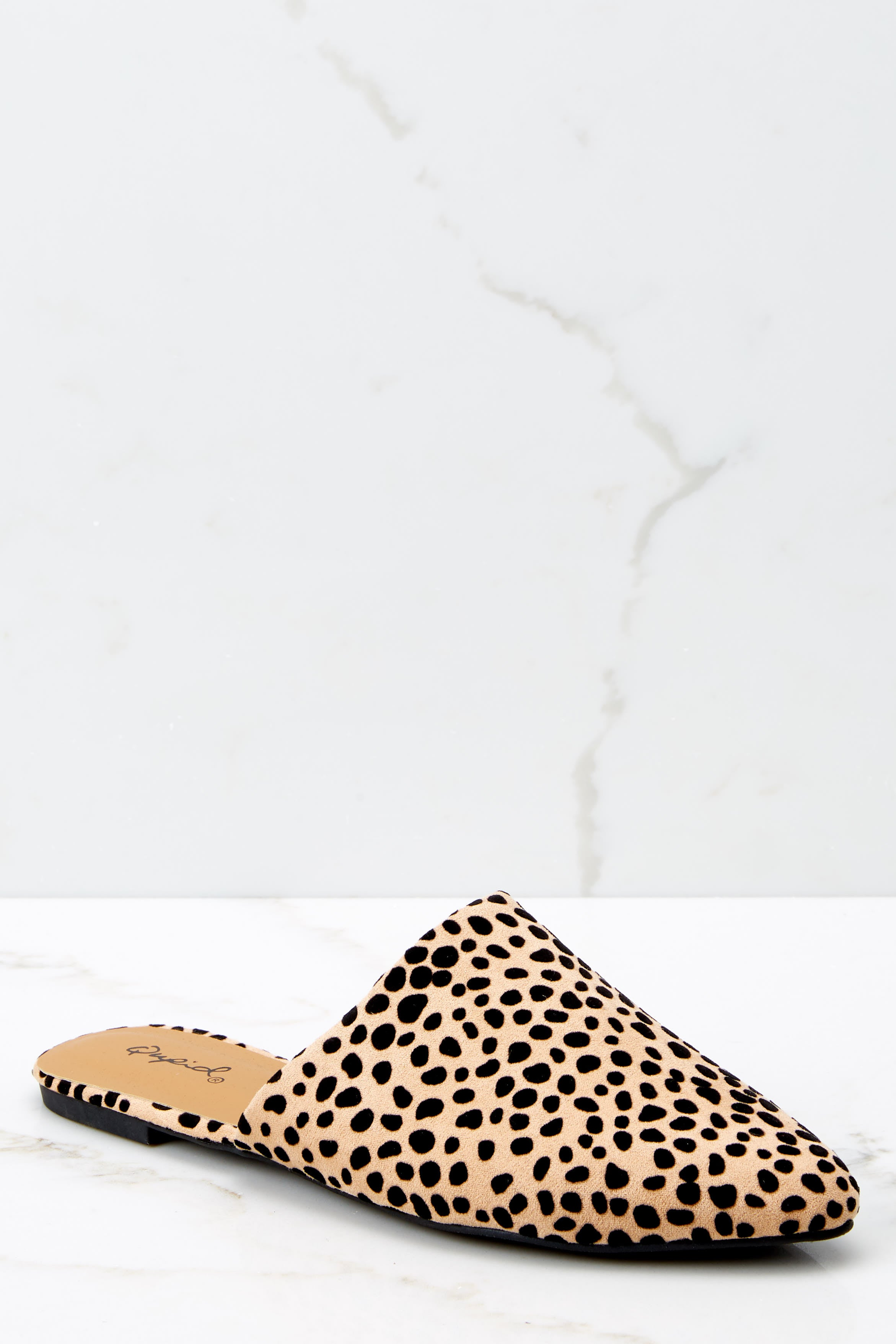 2 Bad Blood Cheetah Print Mule Slides at reddressboutique.com