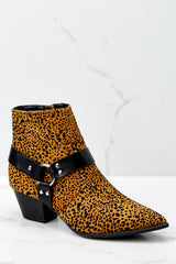 1 City Streets Cheetah Print Ankle Booties at reddress.com