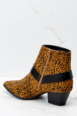 4 City Streets Cheetah Print Ankle Booties at reddress.com