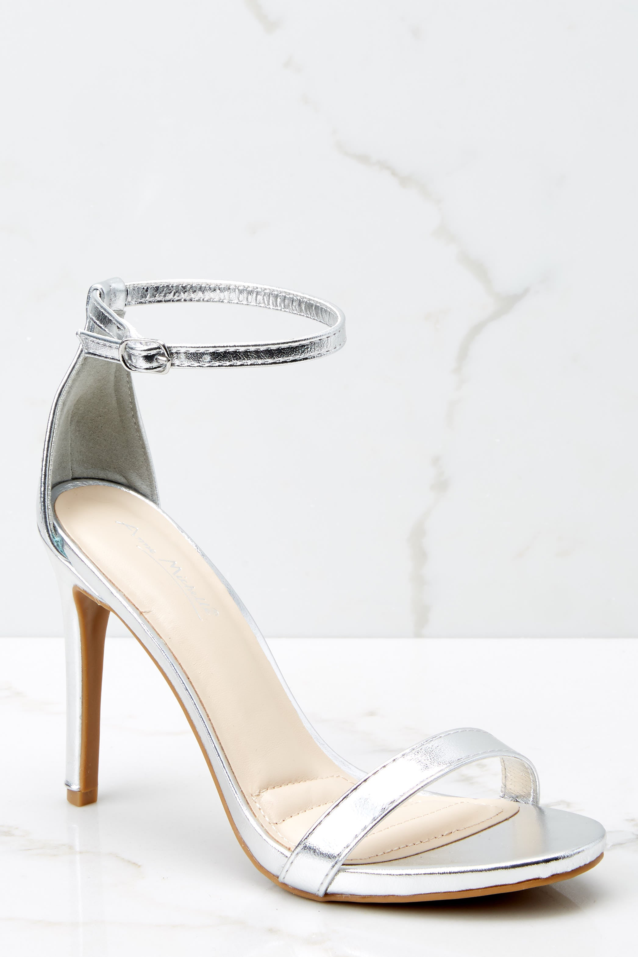 2 It's Your Moment Silver Ankle Strap Heels at reddressboutique.com