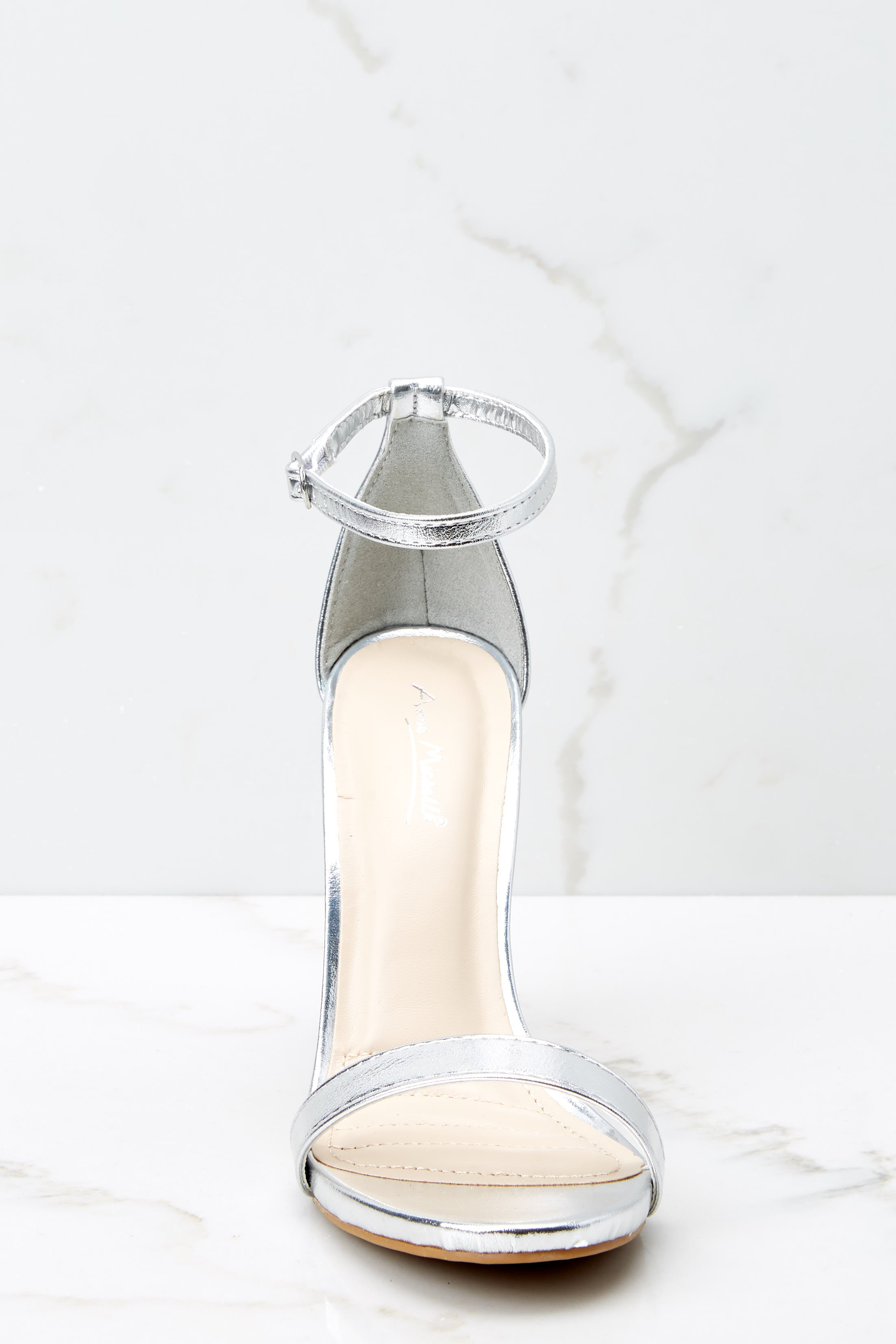 3 It's Your Moment Silver Ankle Strap Heels at reddressboutique.com