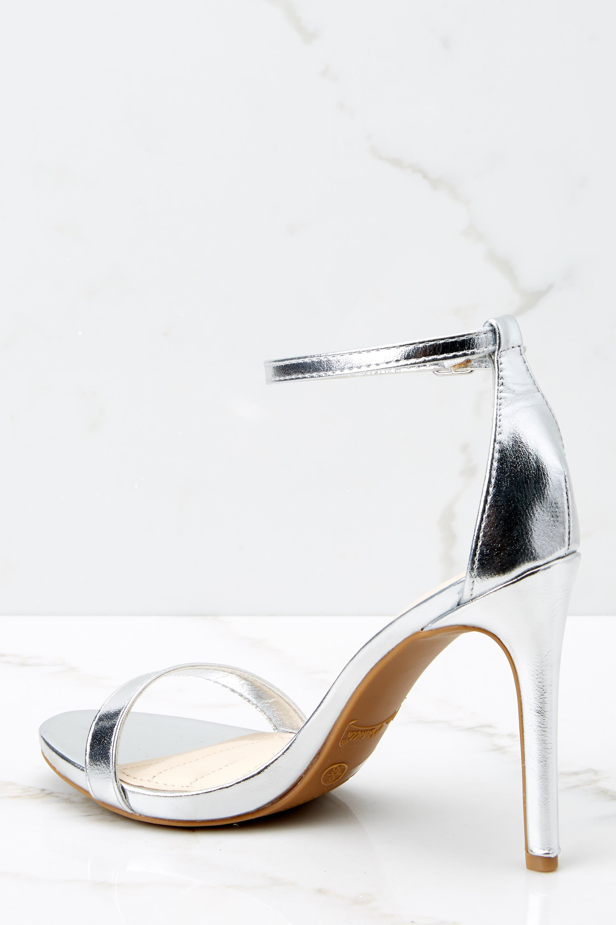 4 It's Your Moment Silver Ankle Strap Heels at reddressboutique.com