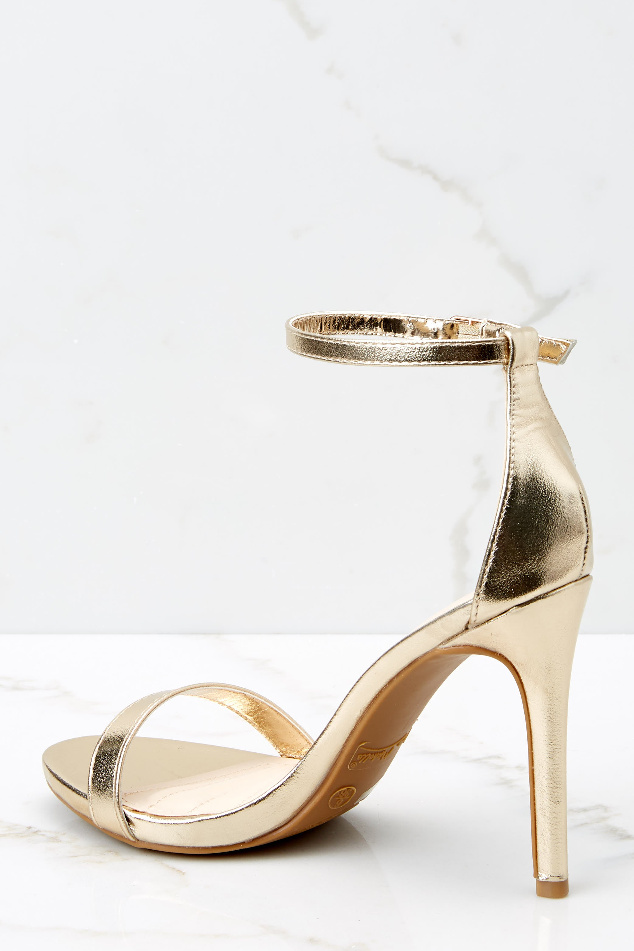 4 It's Your Moment Gold Ankle Strap Heels at reddress.com