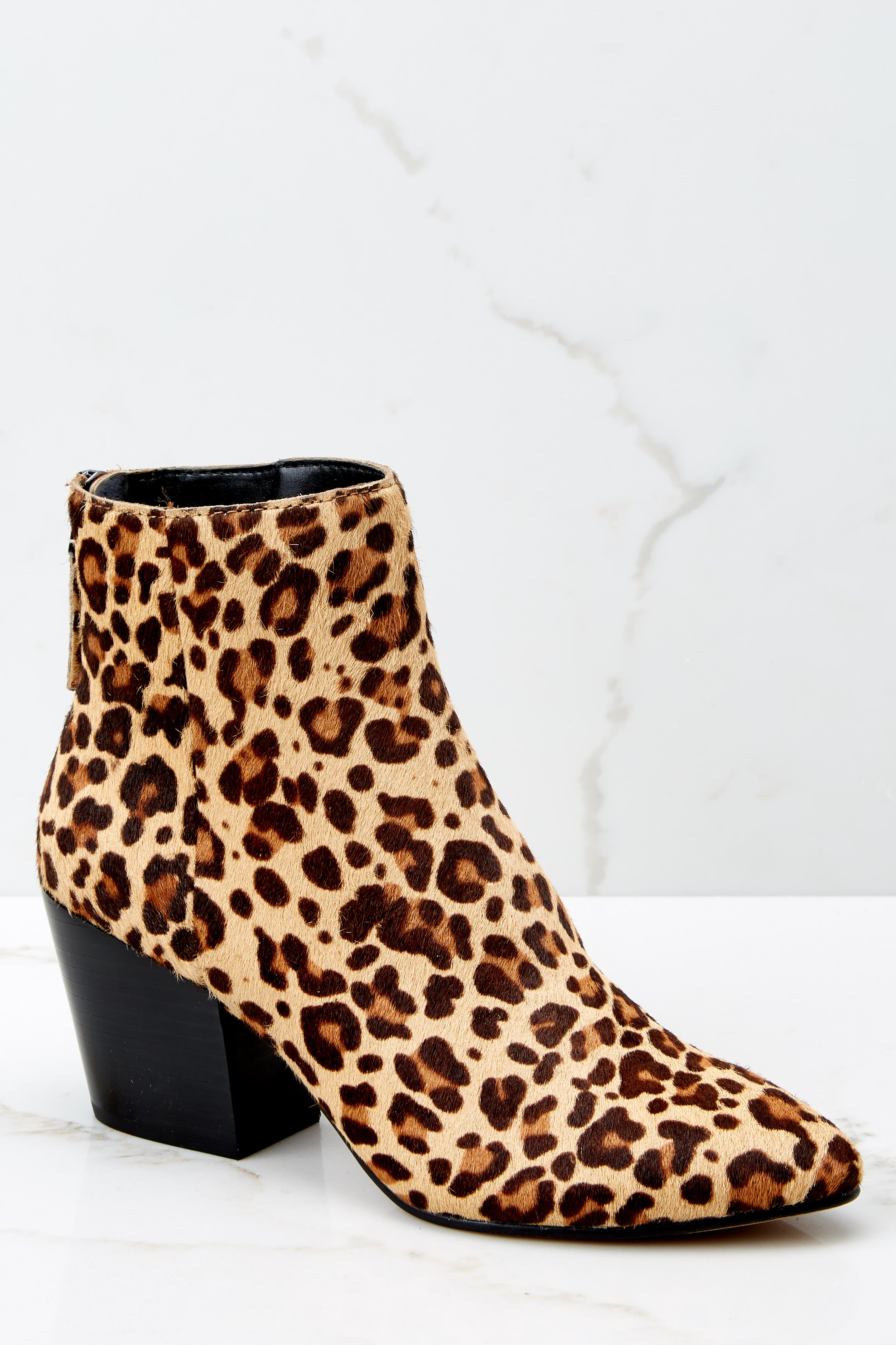 2 Coltyn Leopard Booties at reddressboutique.com