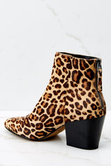 4 Coltyn Leopard Booties at reddressboutique.com