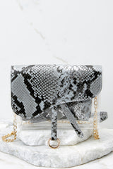 4 Everyone Will Know Snake Print Purse at reddressboutique.com