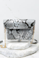 6 Everyone Will Know Snake Print Purse at reddressboutique.com