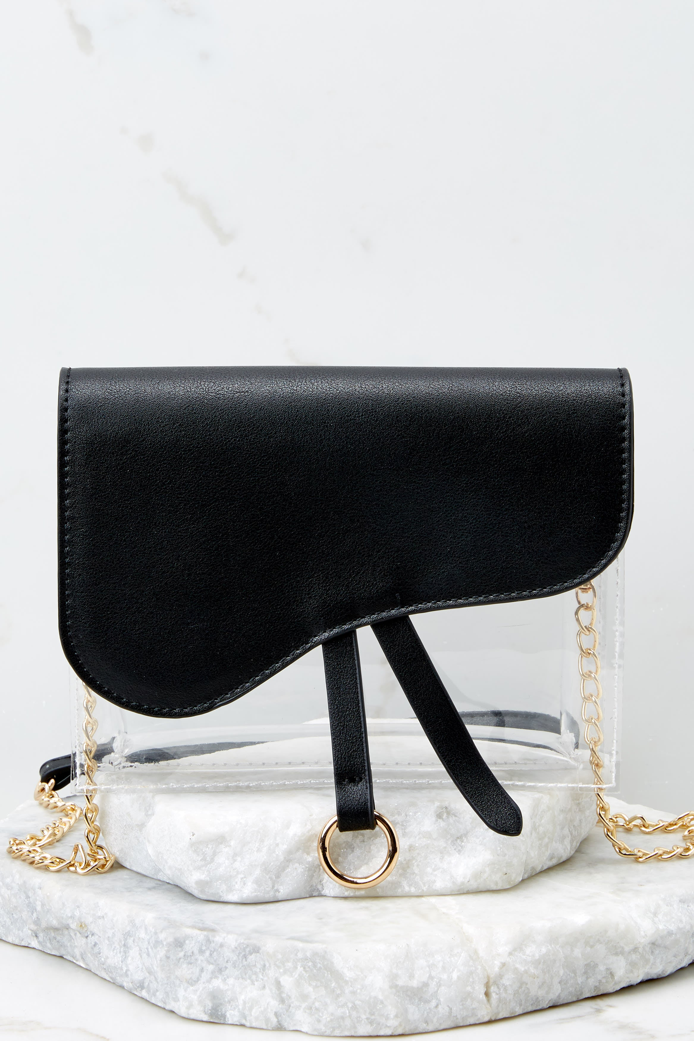 6 Everyone Will Know Black And Clear Purse at reddressboutique.com