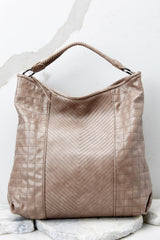 4 City Life Taupe Handbag at reddressboutique.com