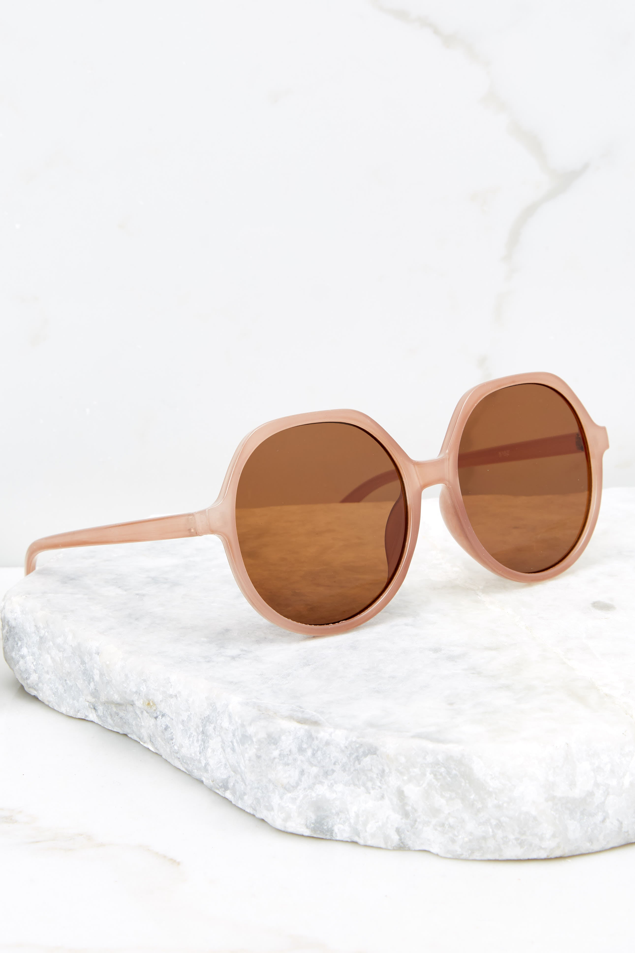 2 Glancing Back And Forth Brown Sunglasses at reddressboutique.com