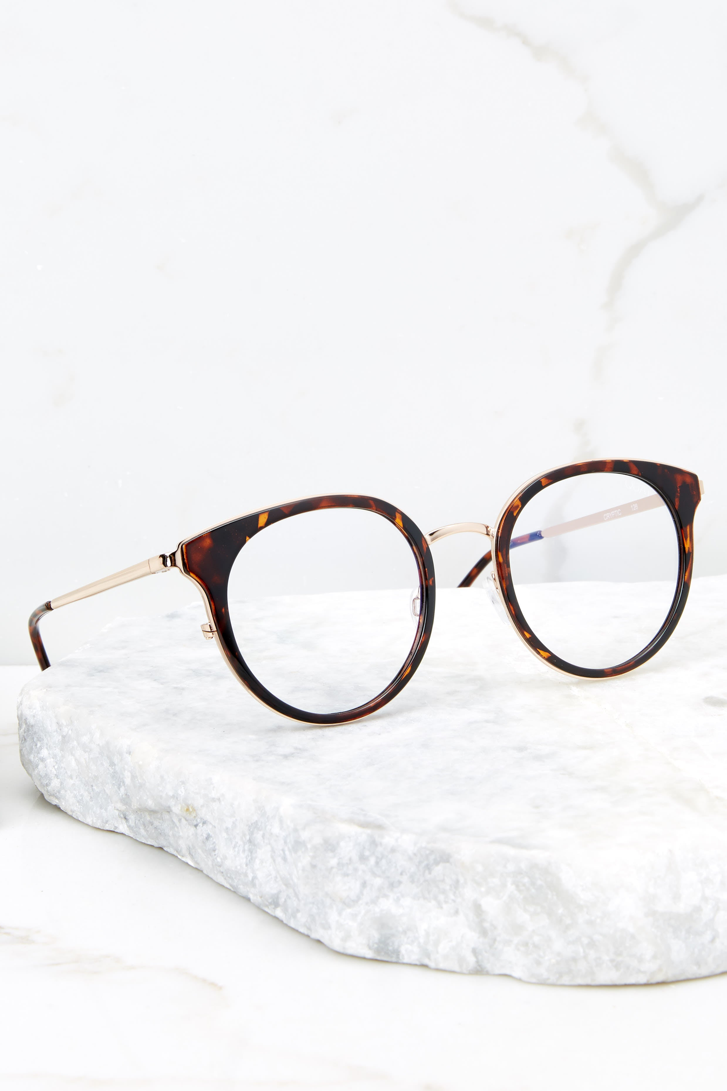 3 Cryptic Tortoise Clear Blue Light Glasses at reddressboutique.com