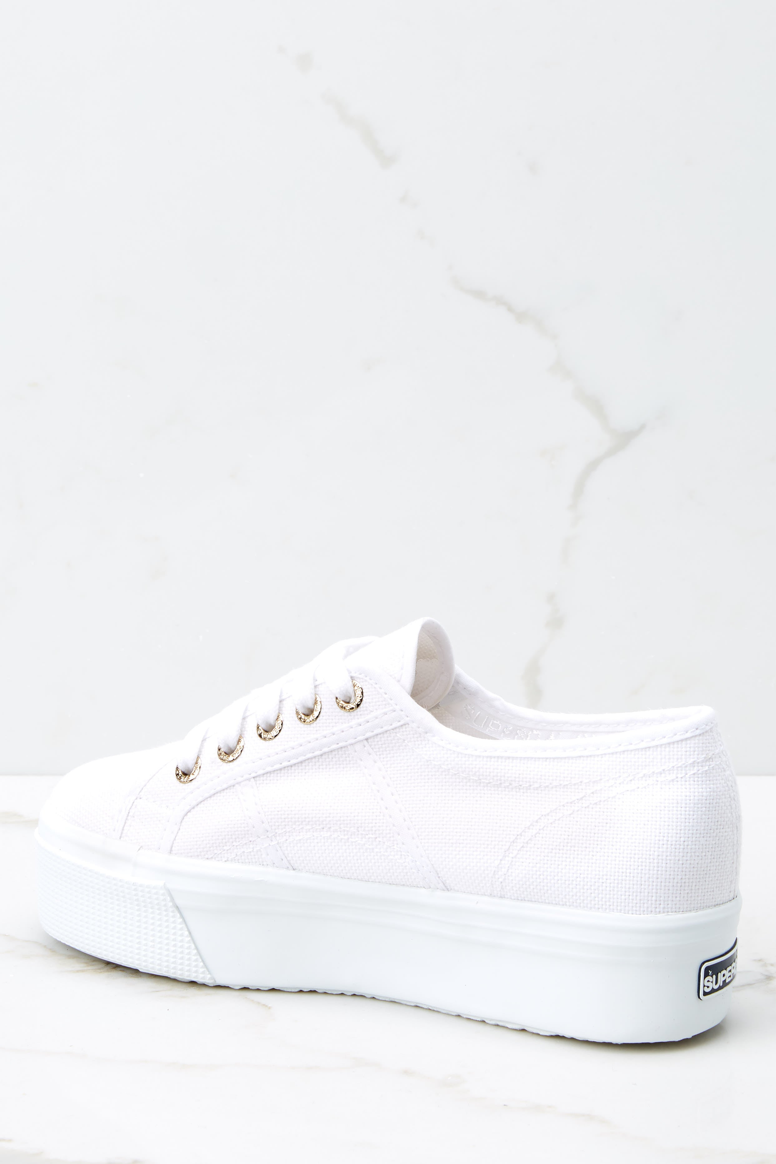 4 2790 Acot White Platform Sneakers at reddressboutique.com