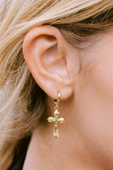 1 Faithful Gold Huggie Earrings at reddress.com
