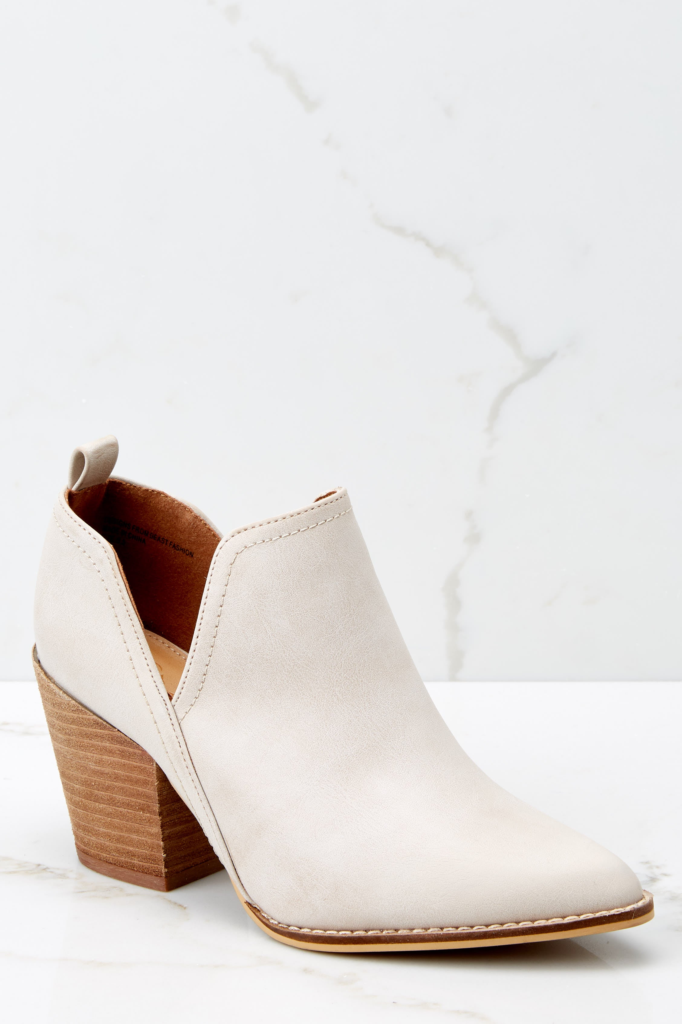 1 Change The Tempo Sand Ankle Booties at reddressboutique.com