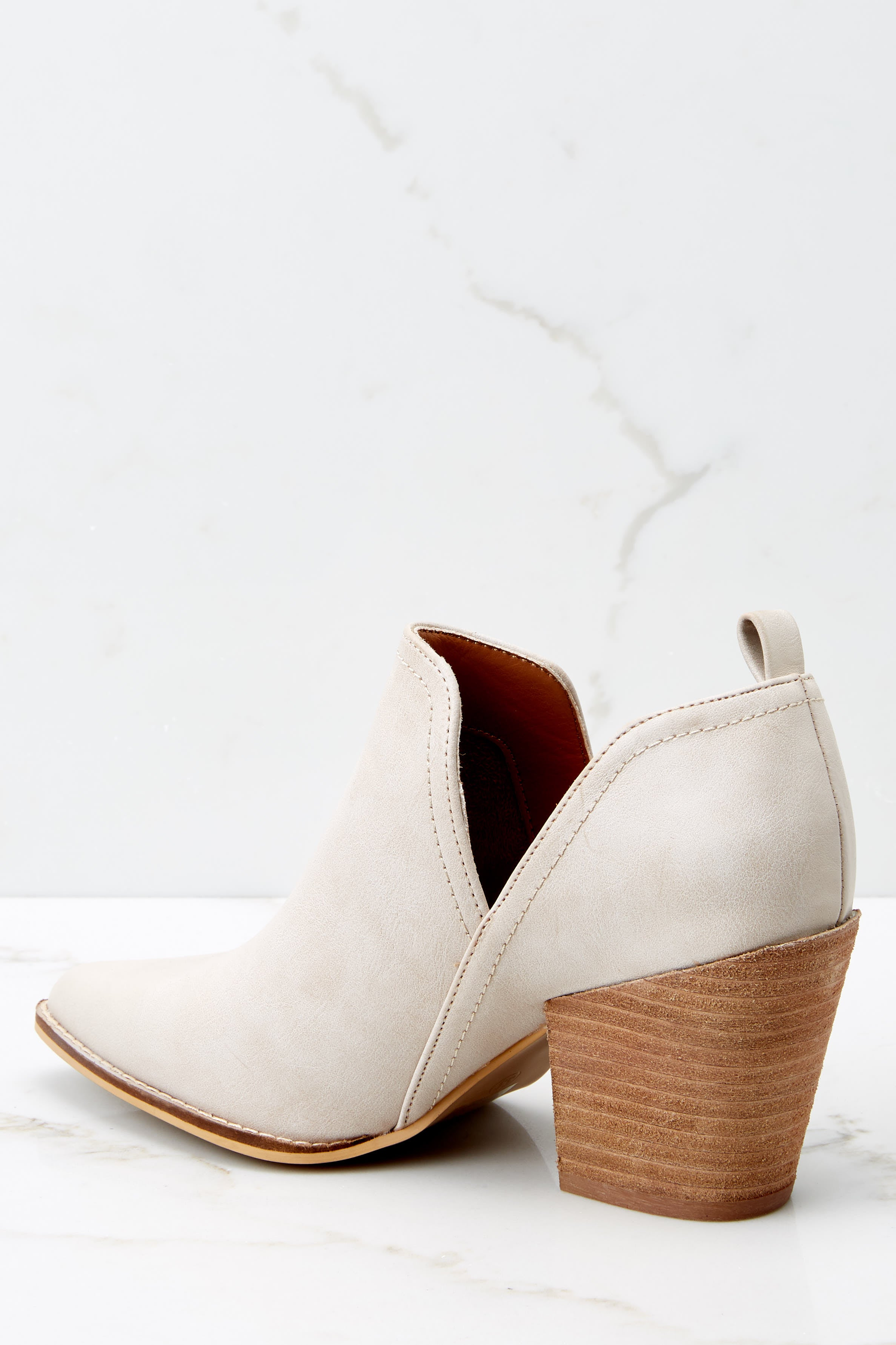 3 Change The Tempo Sand Ankle Booties at reddressboutique.com
