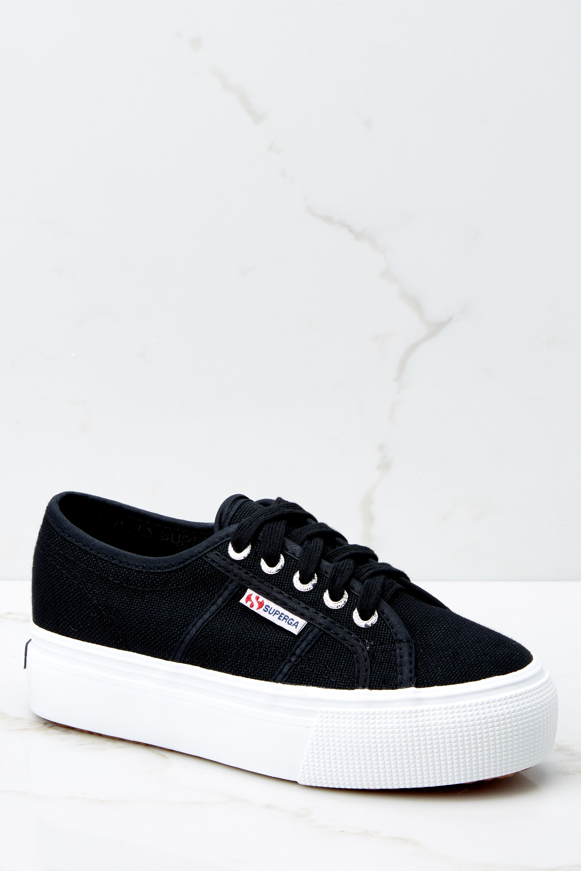 2 2790 Acot Black Platform Sneakers at reddressboutique.com