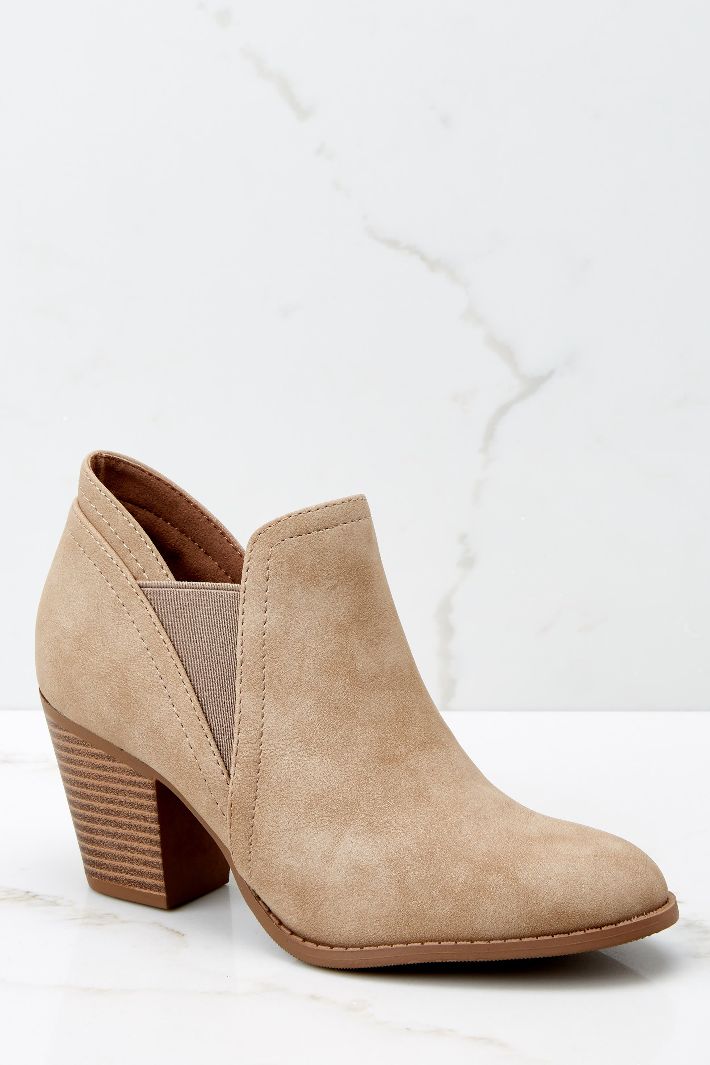 2 Make A Path Taupe Ankle Booties at reddress.com