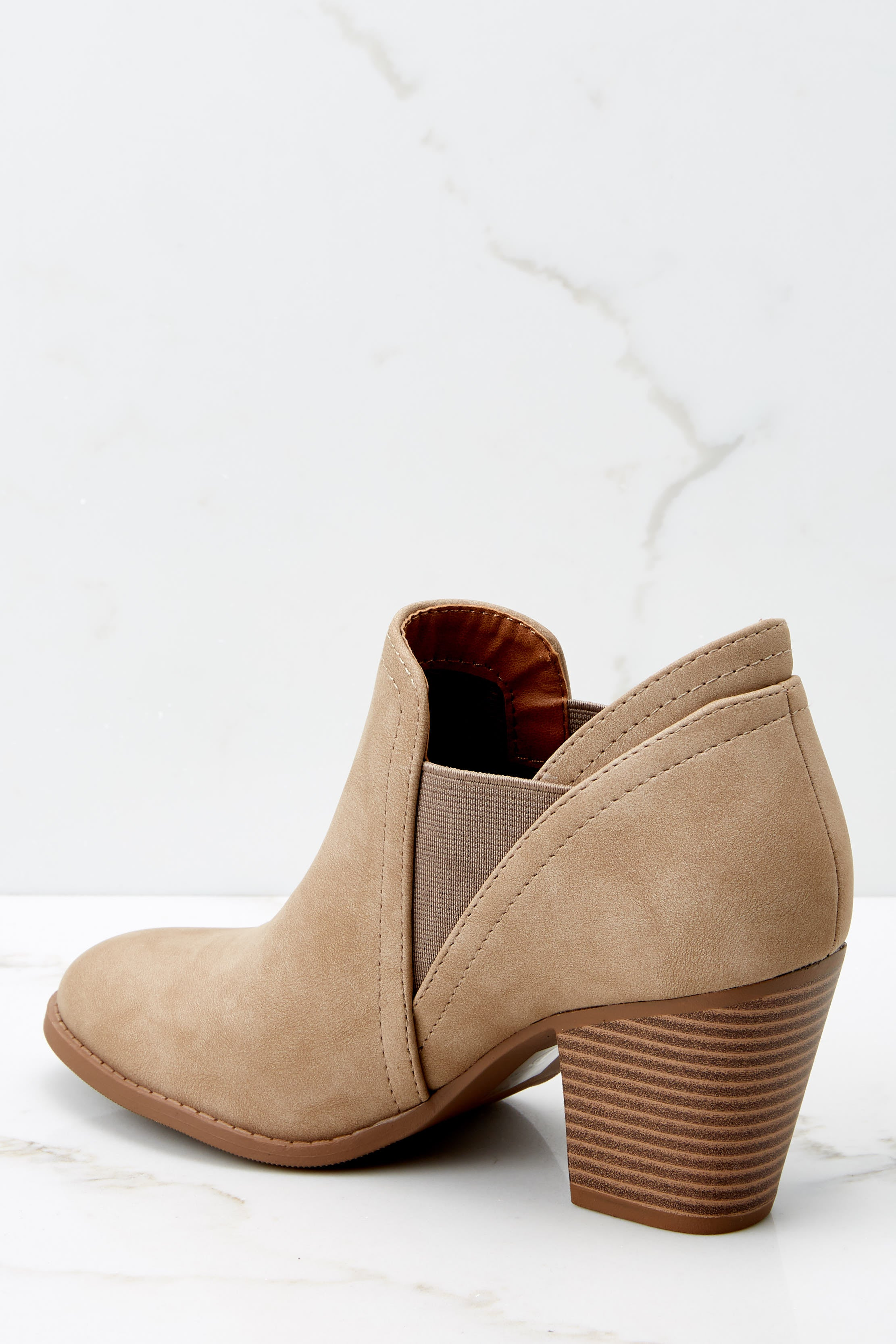 3 Make A Path Taupe Ankle Booties at reddressboutique.com