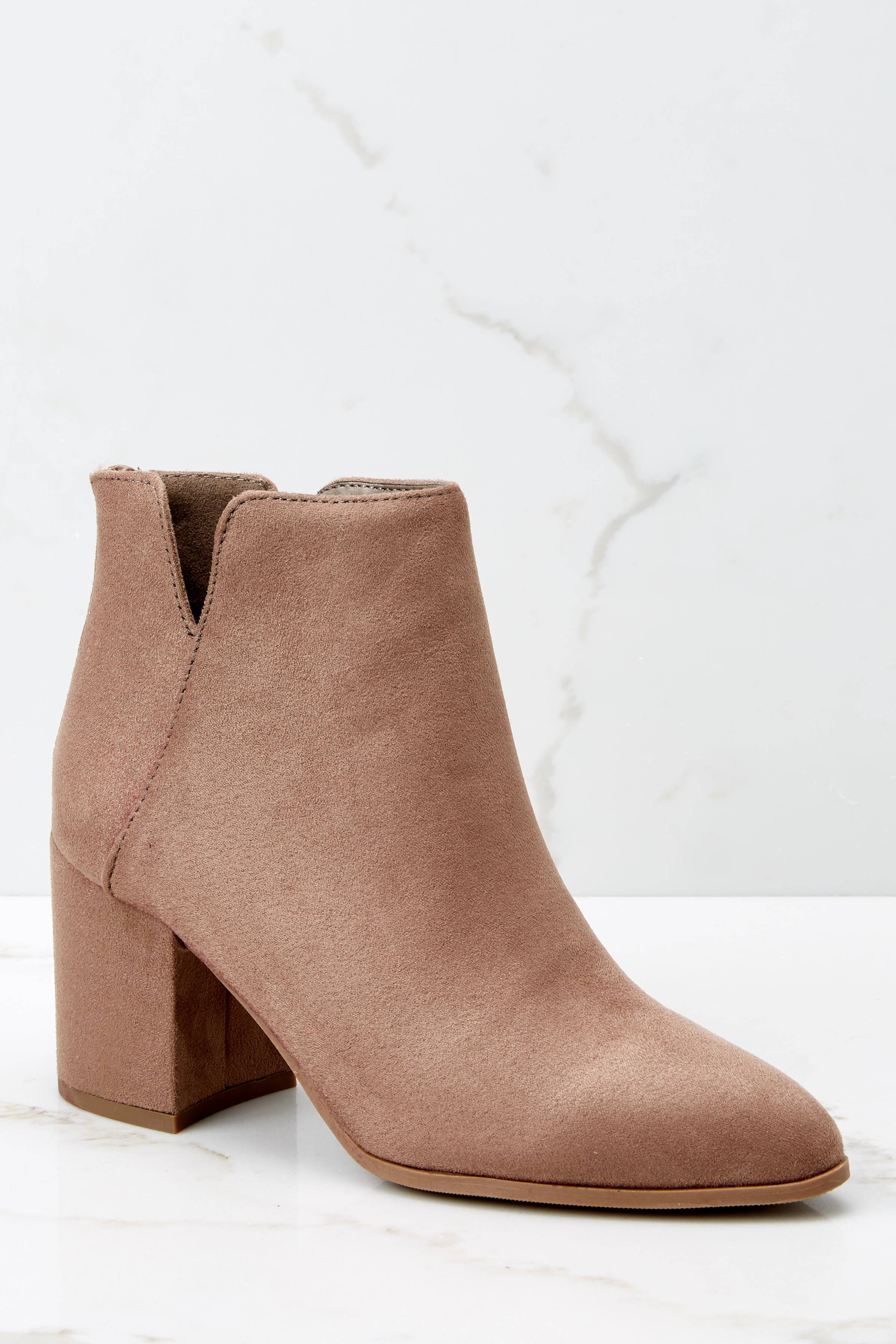 2 Through The City Taupe Ankle Booties at reddressboutique.com