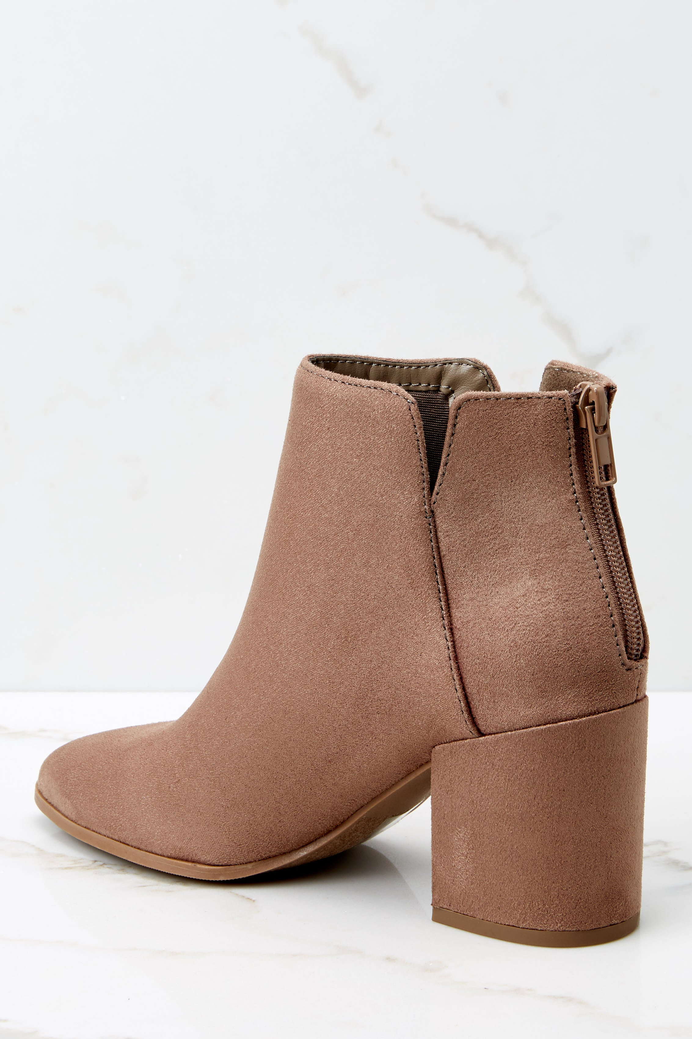4 Through The City Taupe Ankle Booties at reddressboutique.com
