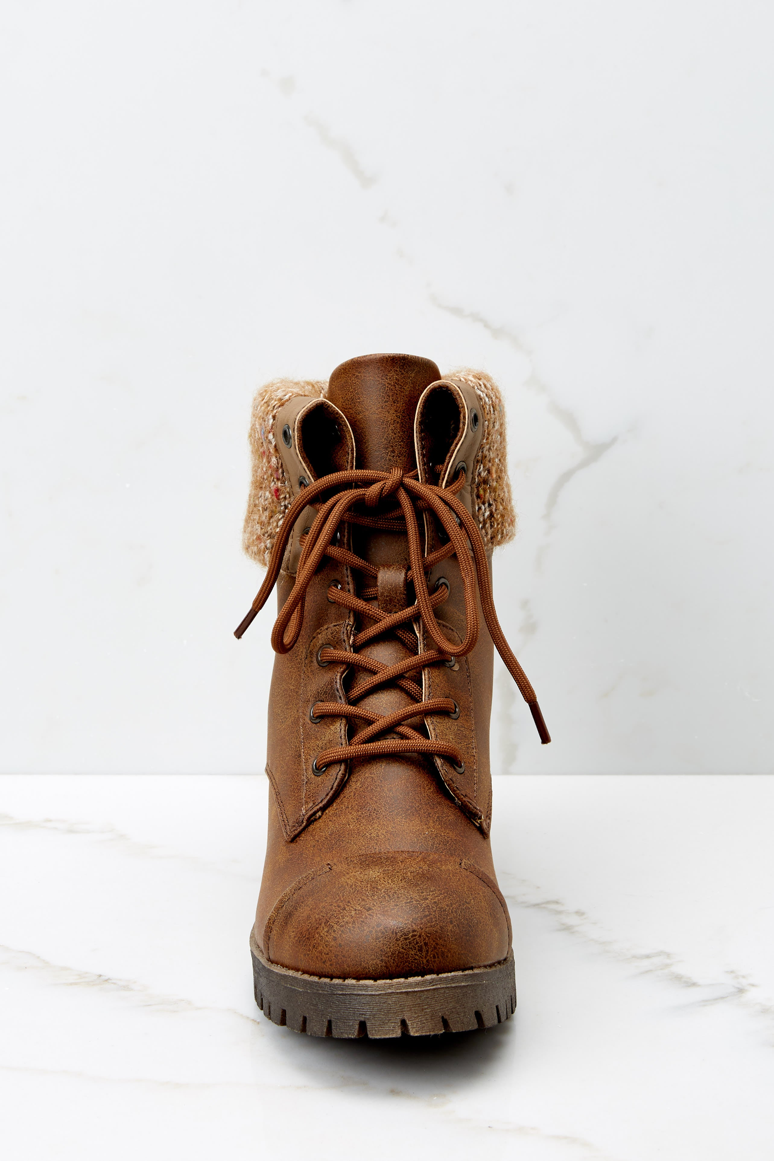 4 Somewhere Out There Brown Lace Up Boots at reddress.com