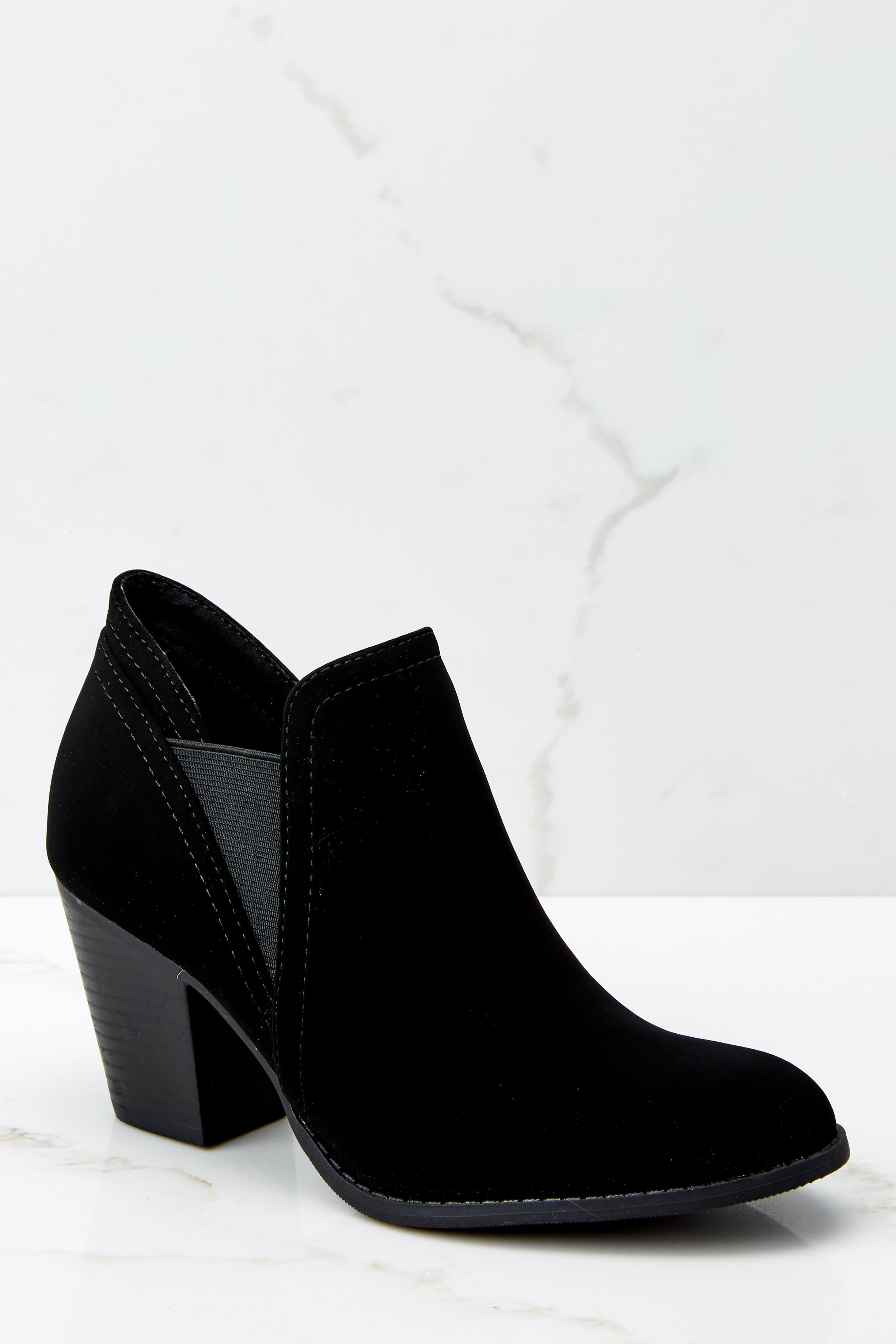 Make A Path Black Ankle Booties