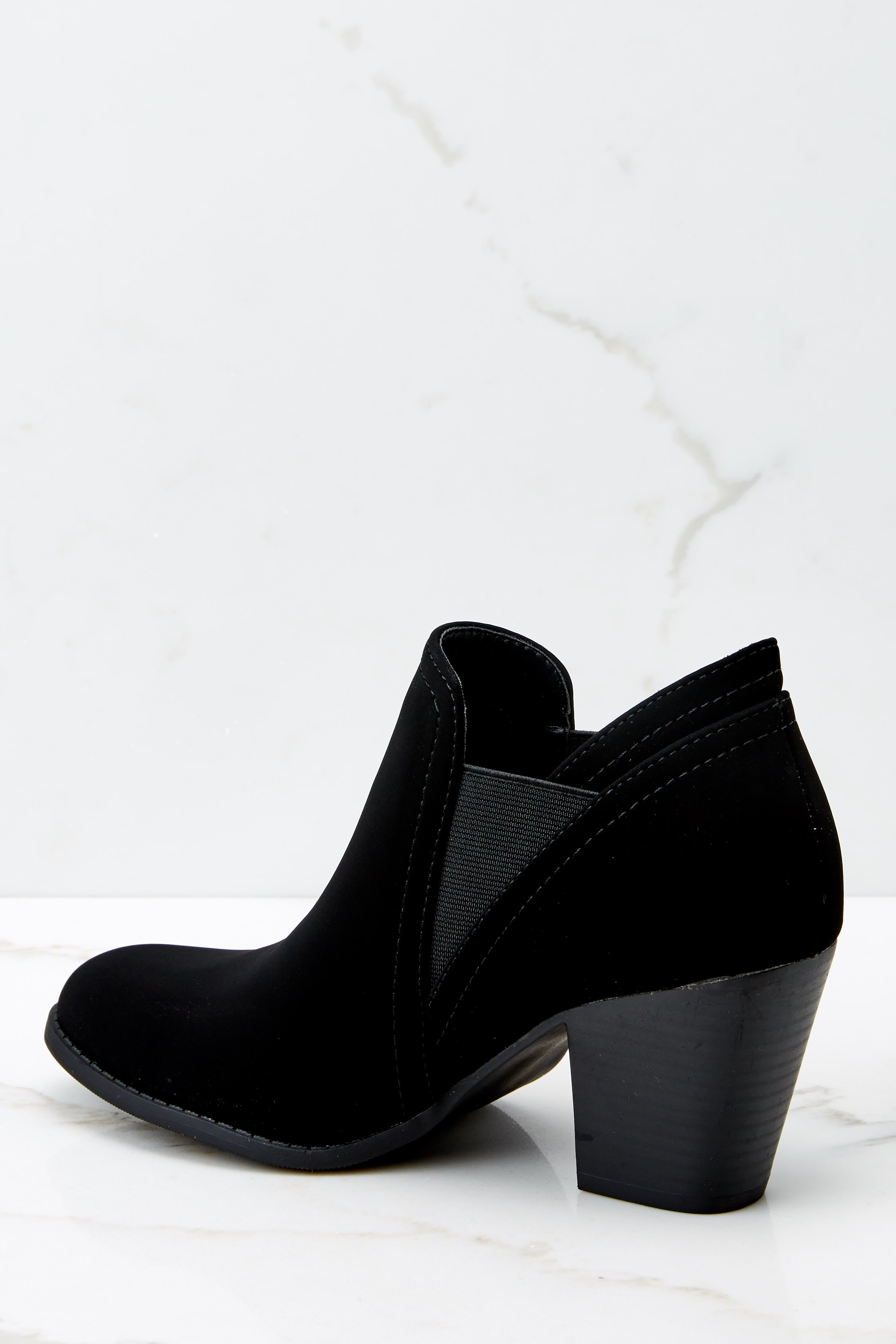 4 Make A Path Black Ankle Booties at reddress.com