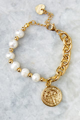 2 Perla Gold Bracelet at reddressboutique.com