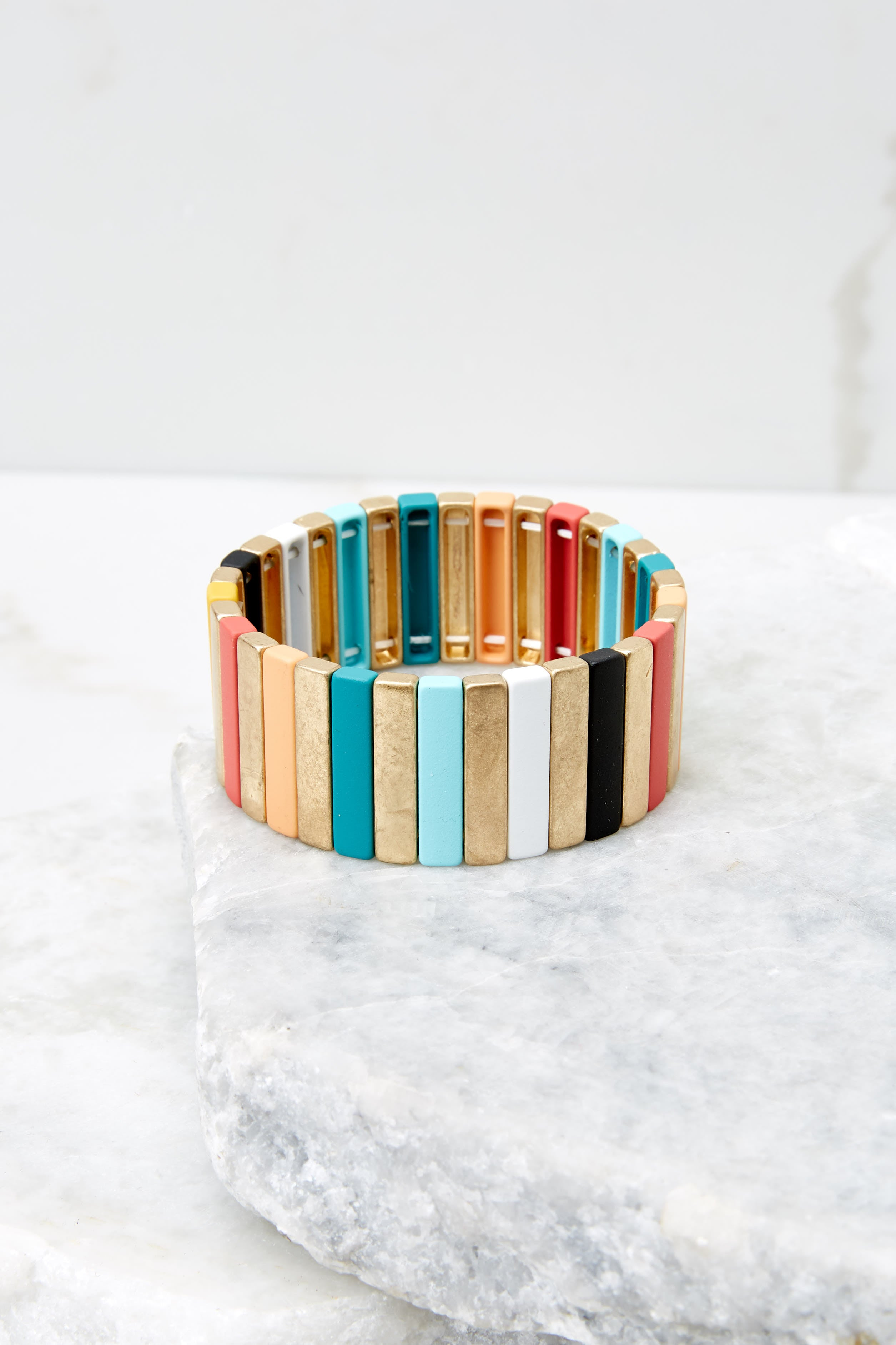 2 Party Over Here Gold Multi Bracelet at reddress.com