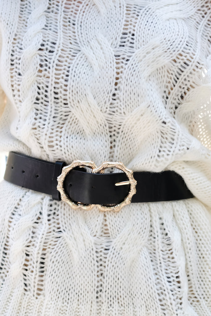 1 Double Vision Black Belt at reddressboutique.com