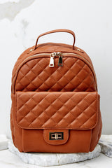 2 Go Where I Want Cognac Brown Backpack at reddressboutique.com