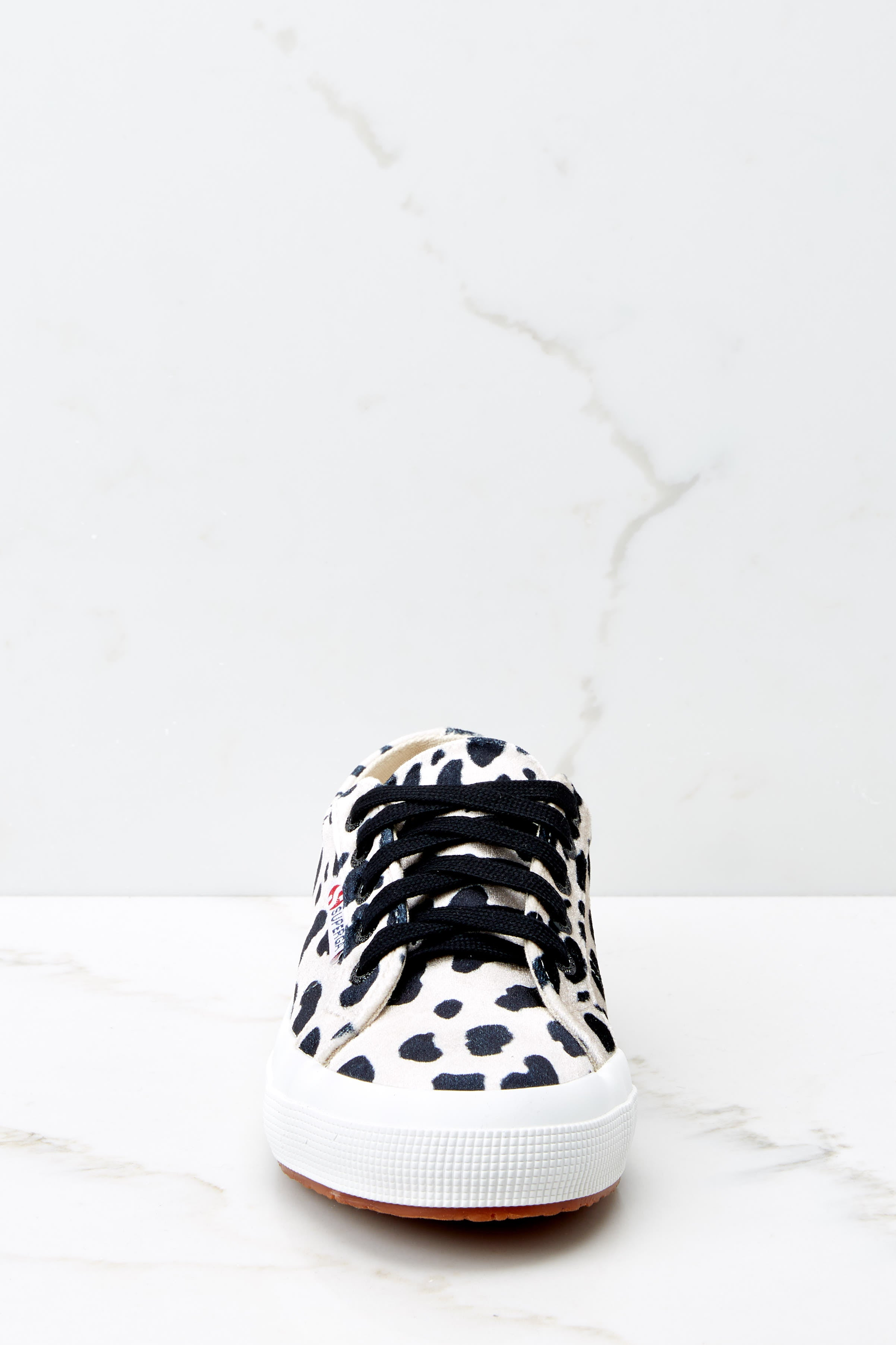 3 2750 Fan Velvet Dalmation Sneakers at reddressboutique.com