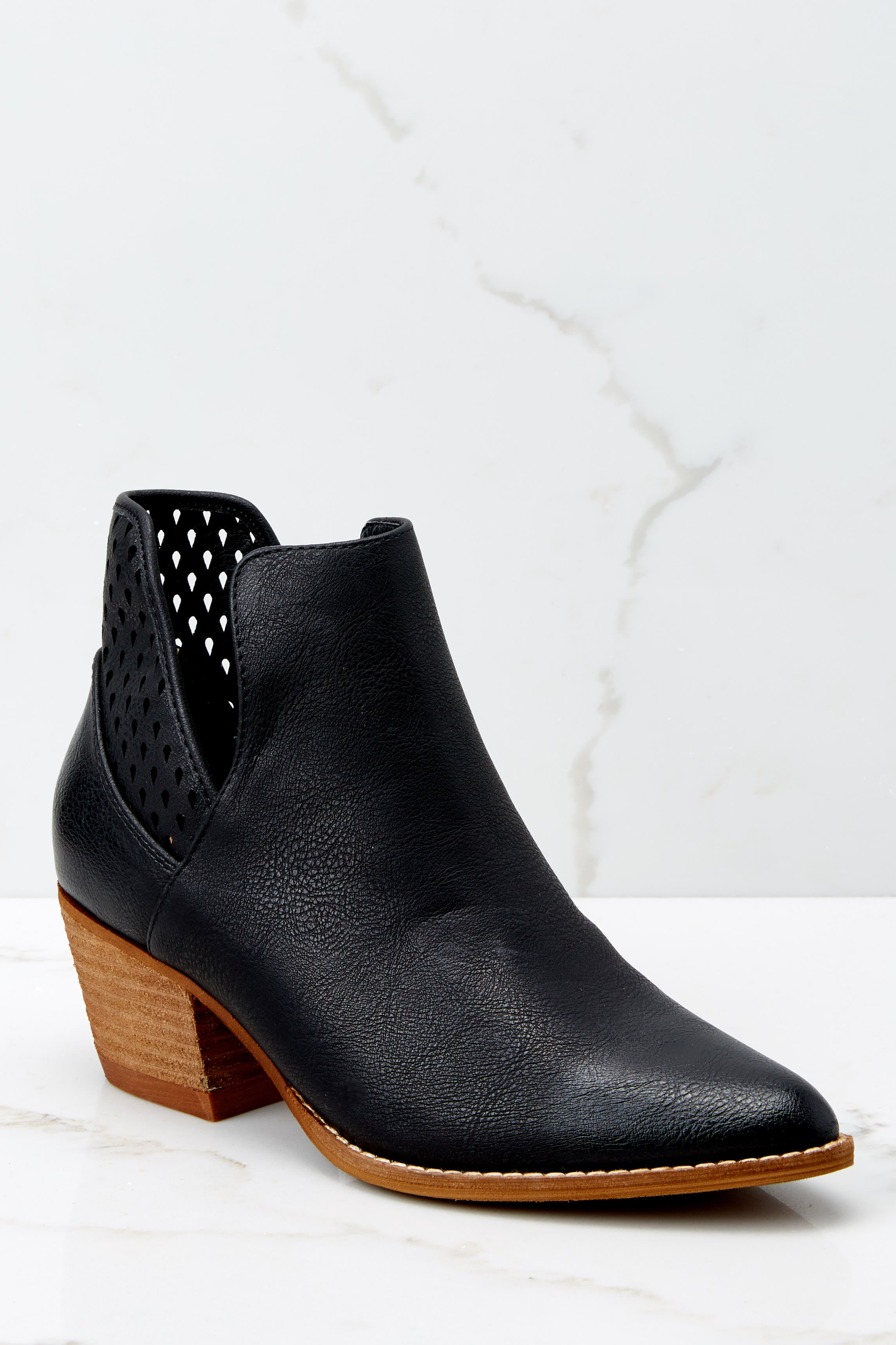 1 All In Favor Black Ankle Booties at reddressboutique.com