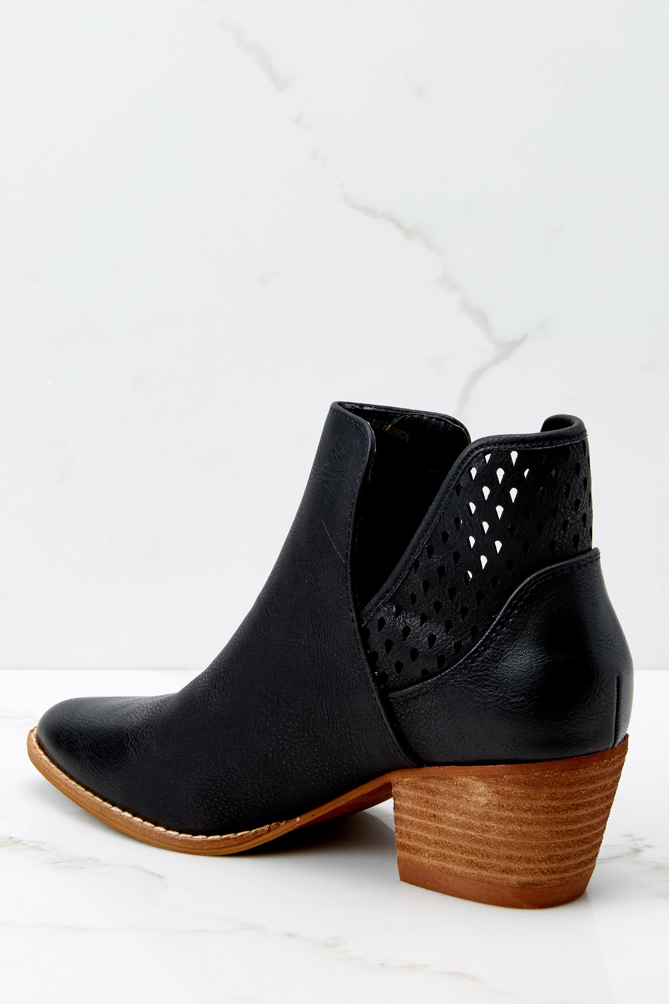 3 All In Favor Black Ankle Booties at reddressboutique.com