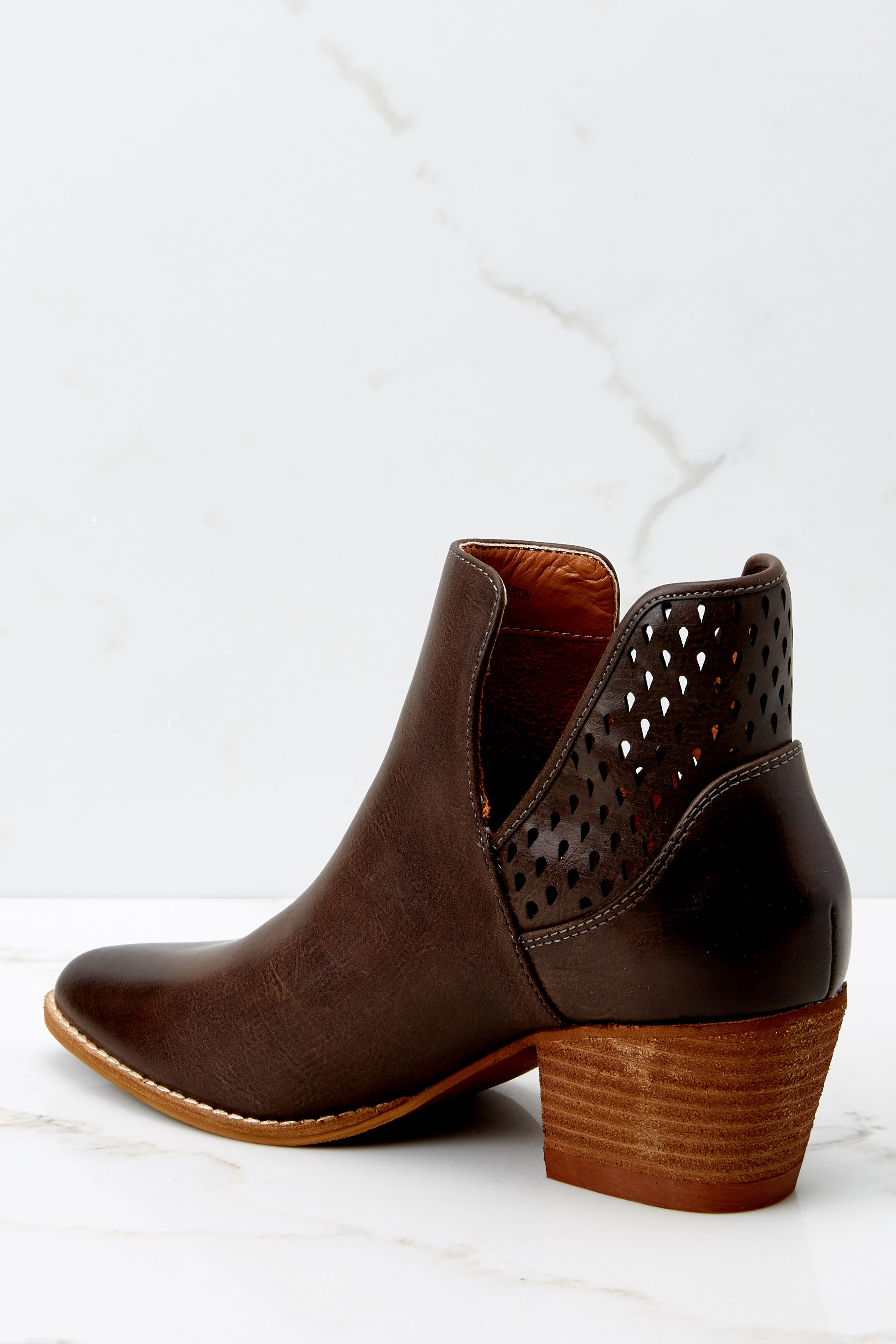 4 All In Favor Dark Brown Ankle Booties at reddressboutique.com