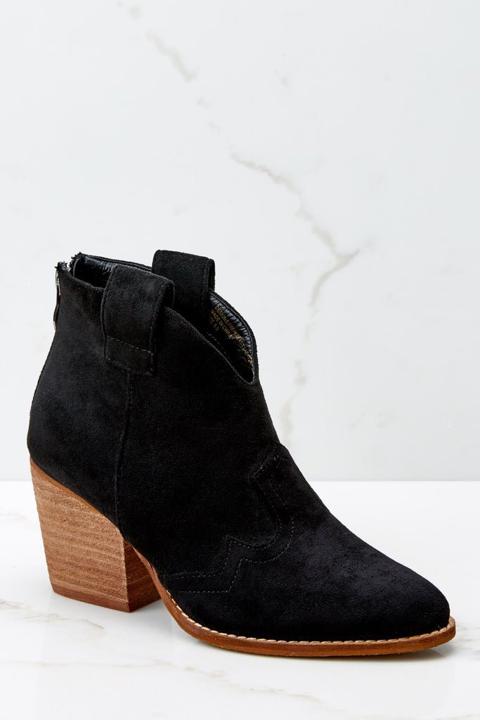 4 Must Be Famous Black Ankle Booties at reddressboutique.com