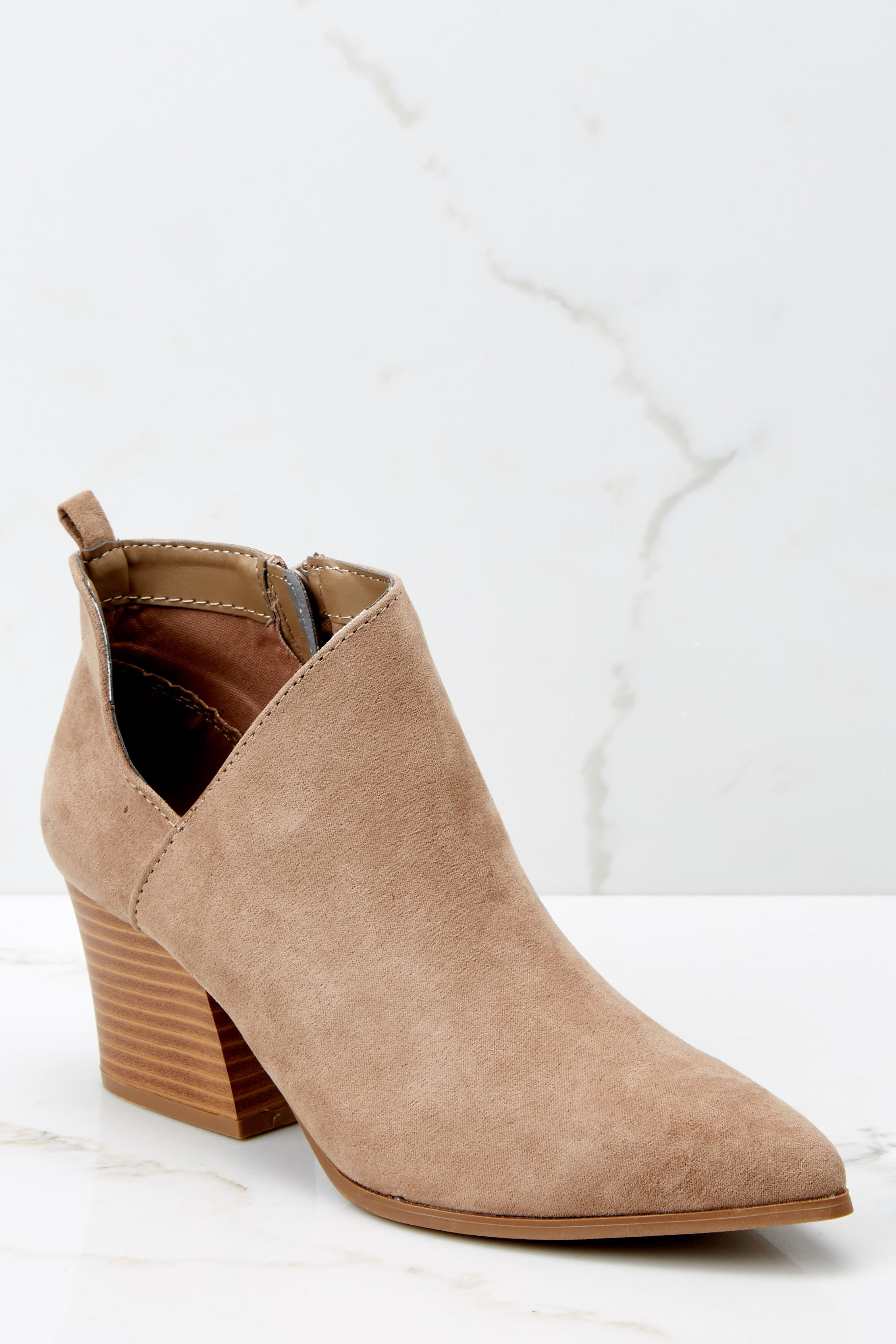 2 From The Valley Taupe Ankle Booties at reddressboutique.com