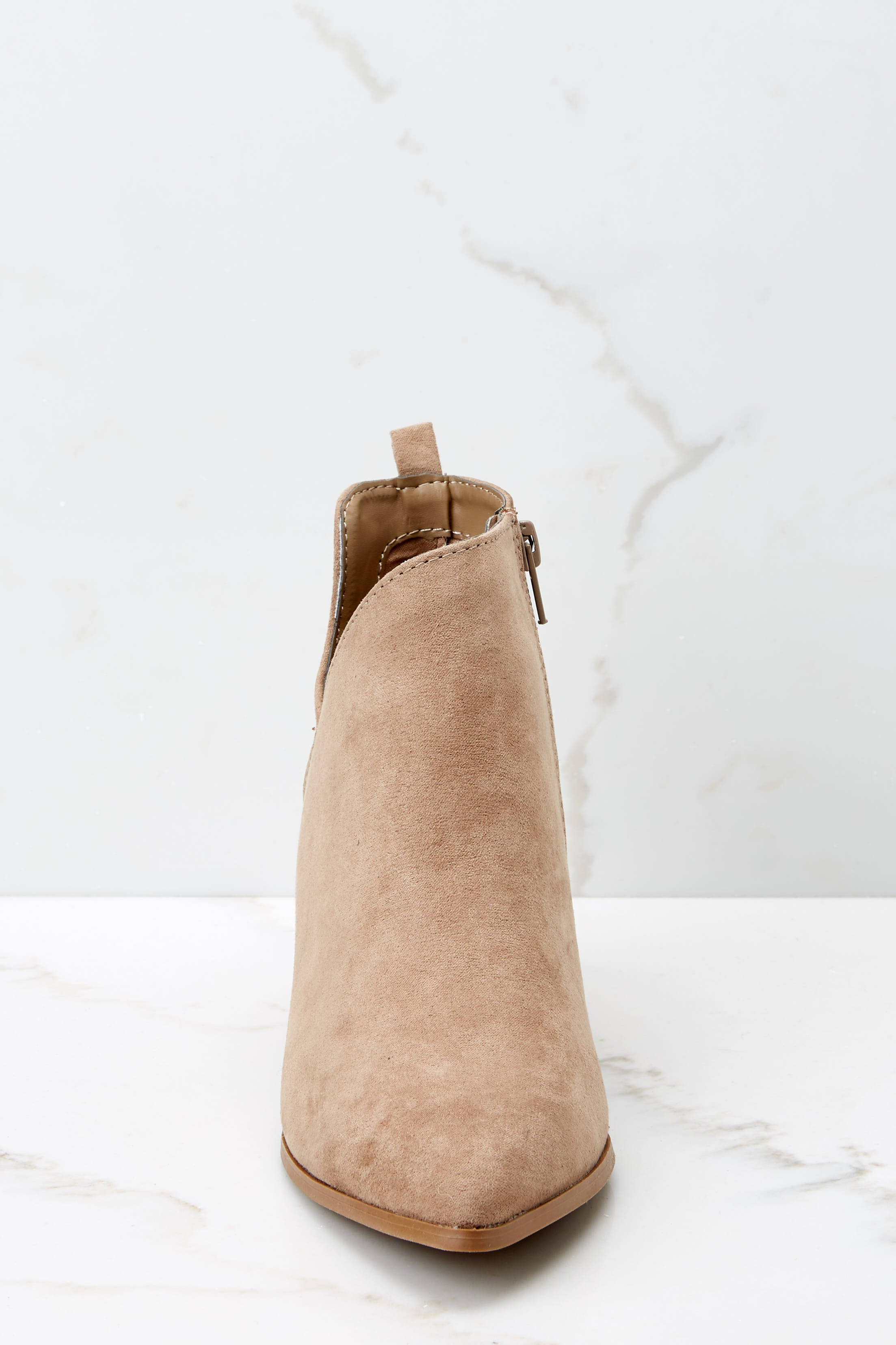3 From The Valley Taupe Ankle Booties at reddressboutique.com