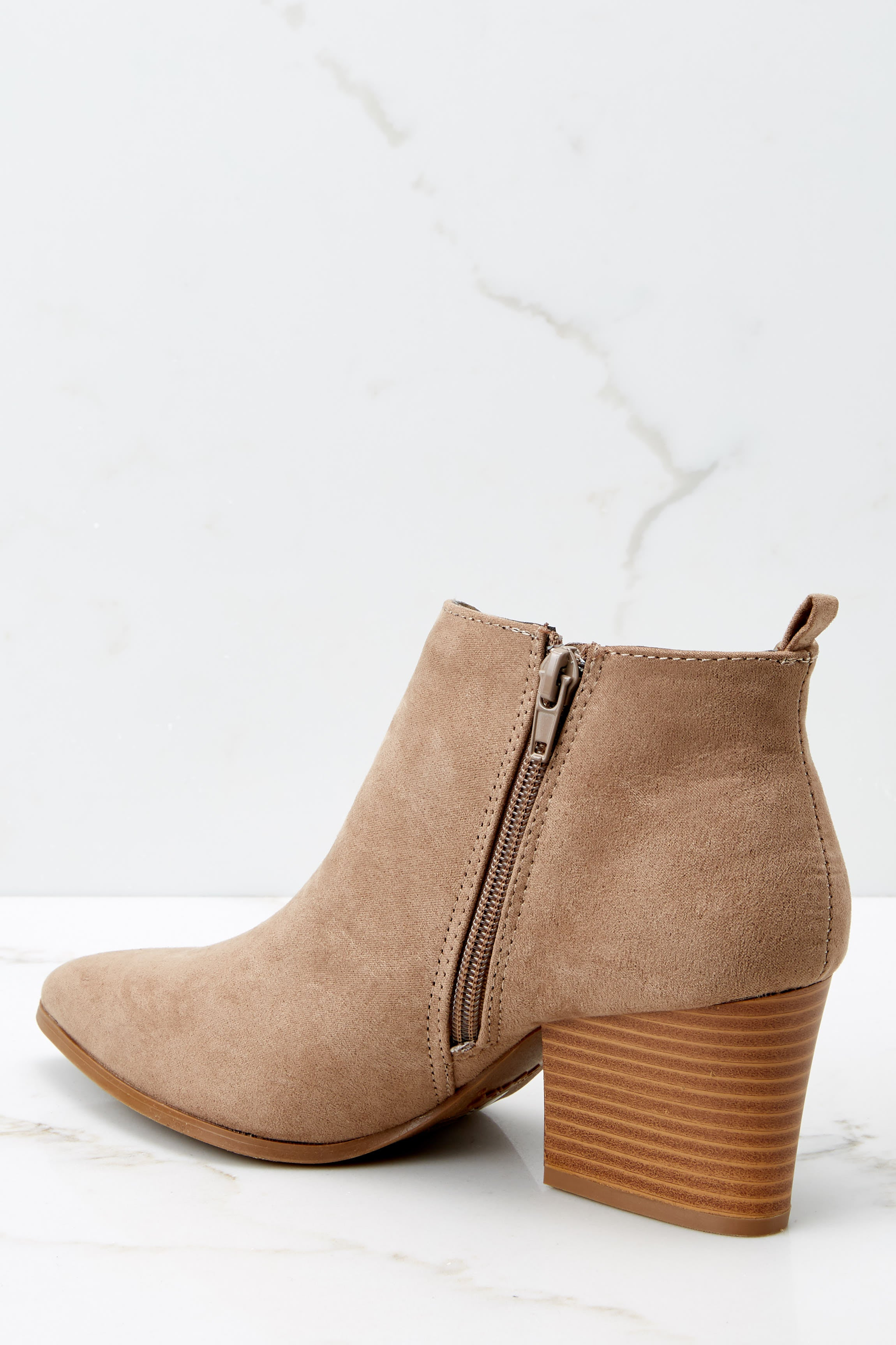 4 From The Valley Taupe Ankle Booties at reddressboutique.com