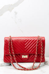 1 Polished And Poised Red Bag at reddressboutique.com