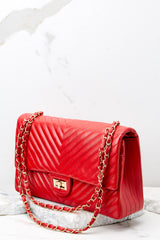 2 Polished And Poised Red Bag at reddressboutique.com