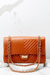 2 Polished And Poised Chestnut Bag at reddress.com